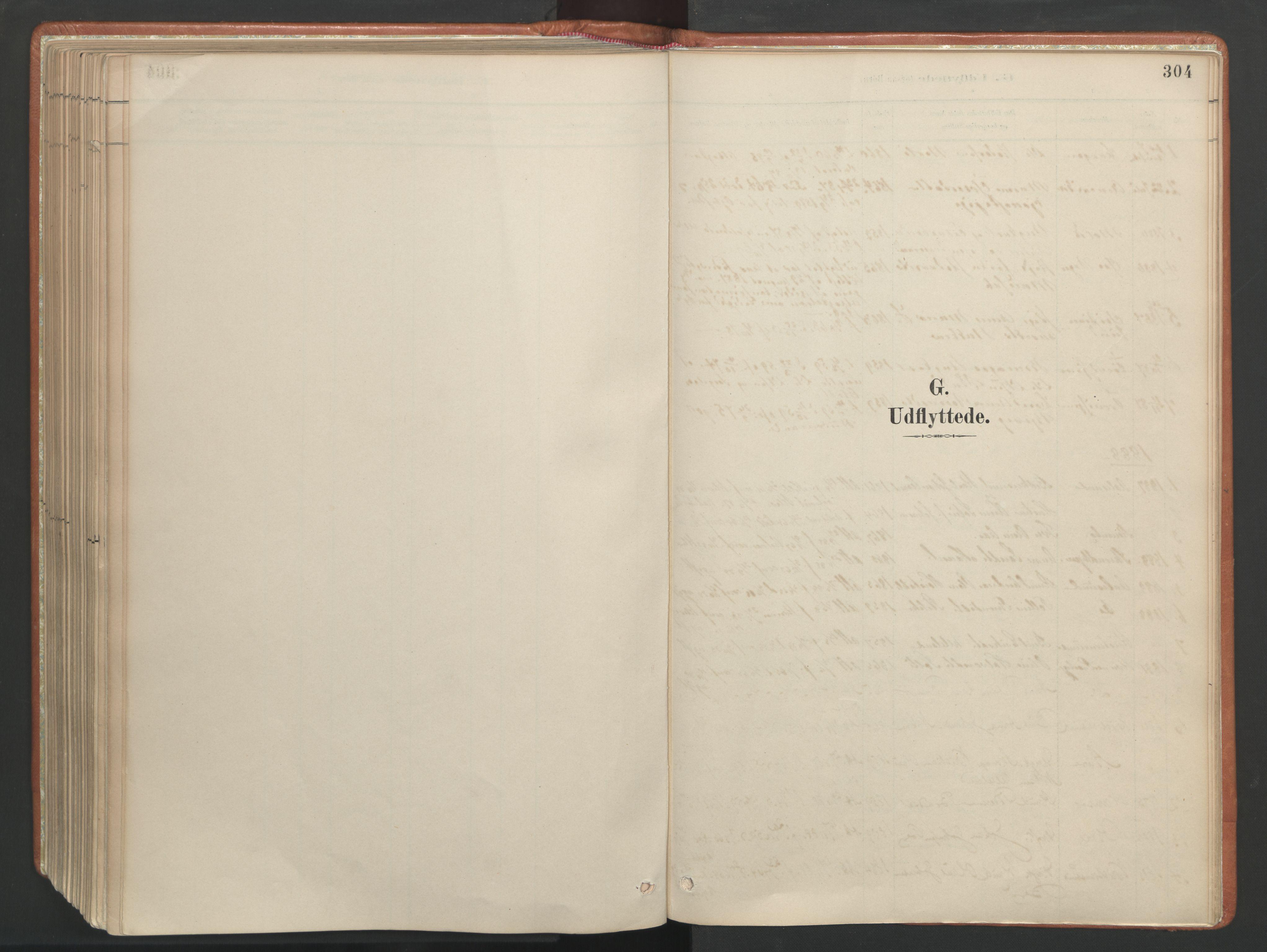 SAT, Ministerialprotokoller, klokkerbøker og fødselsregistre - Møre og Romsdal, 557/L0682: Ministerialbok nr. 557A04, 1887-1970, s. 304
