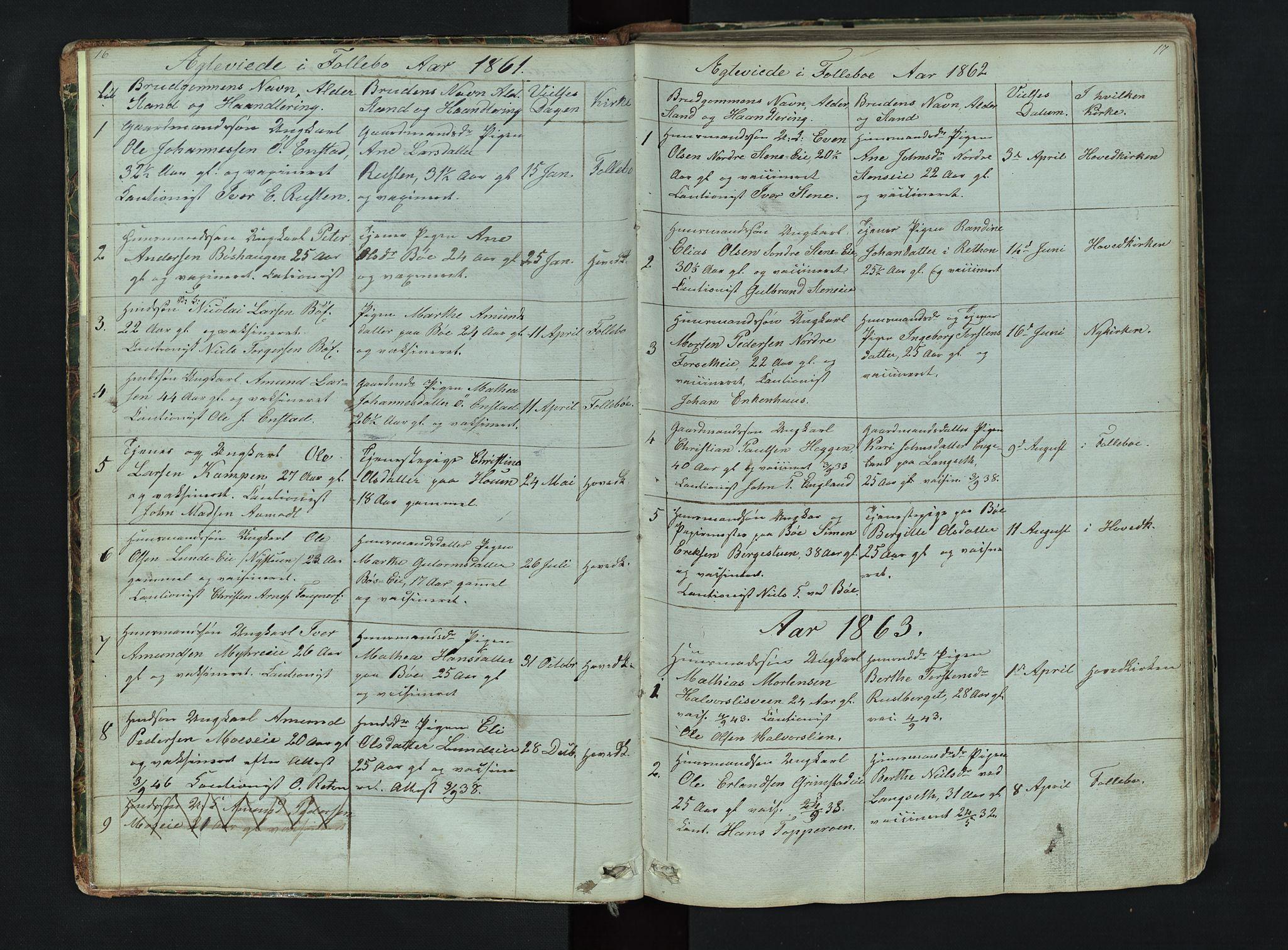 SAH, Gausdal prestekontor, Klokkerbok nr. 6, 1846-1893, s. 16-17