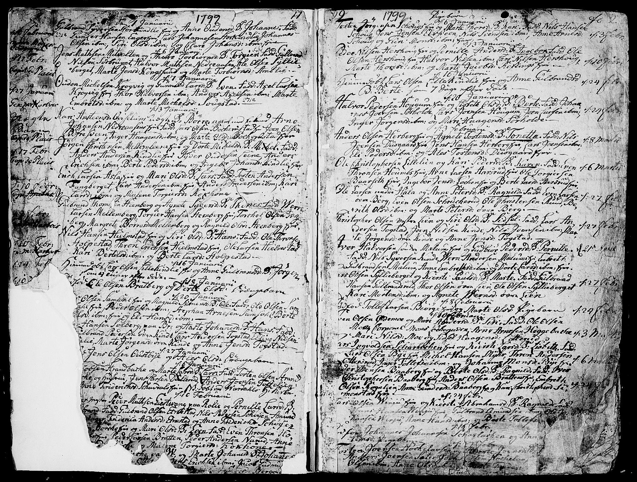 SAH, Ringsaker prestekontor, K/Ka/L0004: Ministerialbok nr. 4, 1799-1814, s. 2