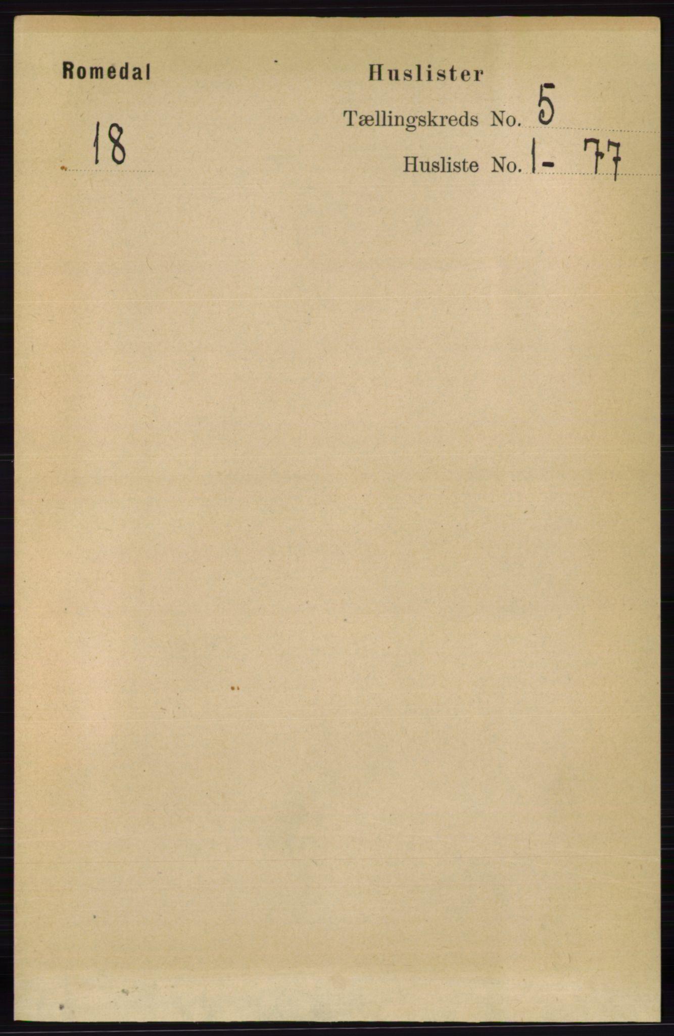 RA, Folketelling 1891 for 0416 Romedal herred, 1891, s. 2388