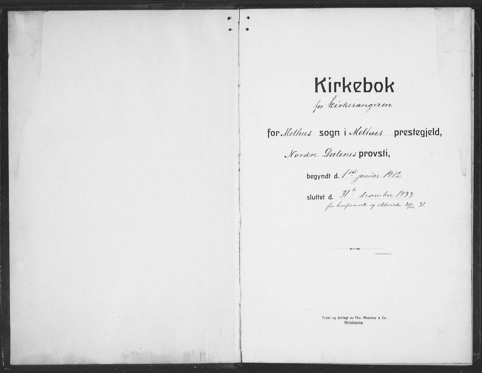 SAT, Ministerialprotokoller, klokkerbøker og fødselsregistre - Sør-Trøndelag, 691/L1095: Klokkerbok nr. 691C06, 1912-1933