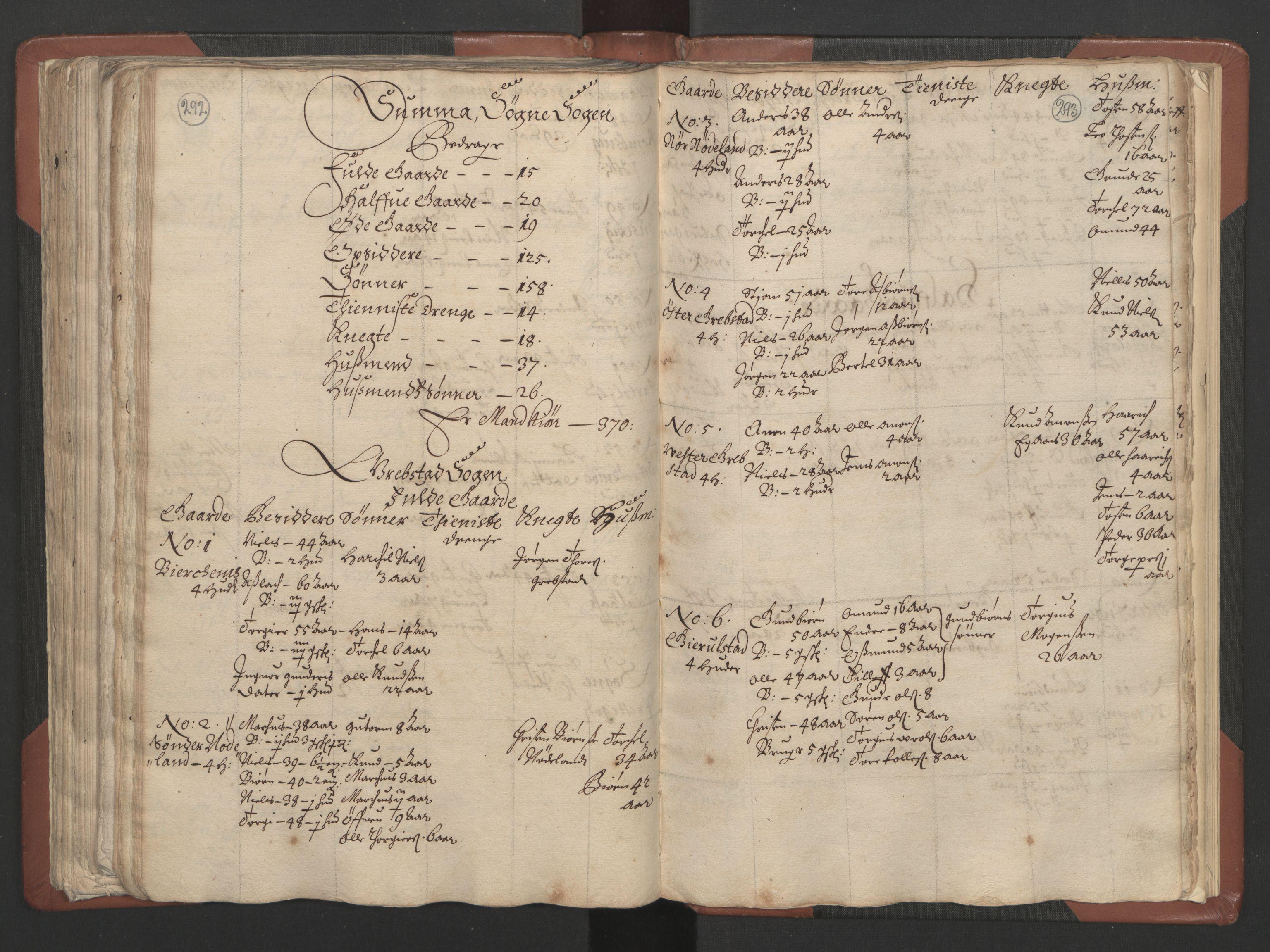 RA, Fogdenes og sorenskrivernes manntall 1664-1666, nr. 9: Mandal len, 1664-1666, s. 292-293