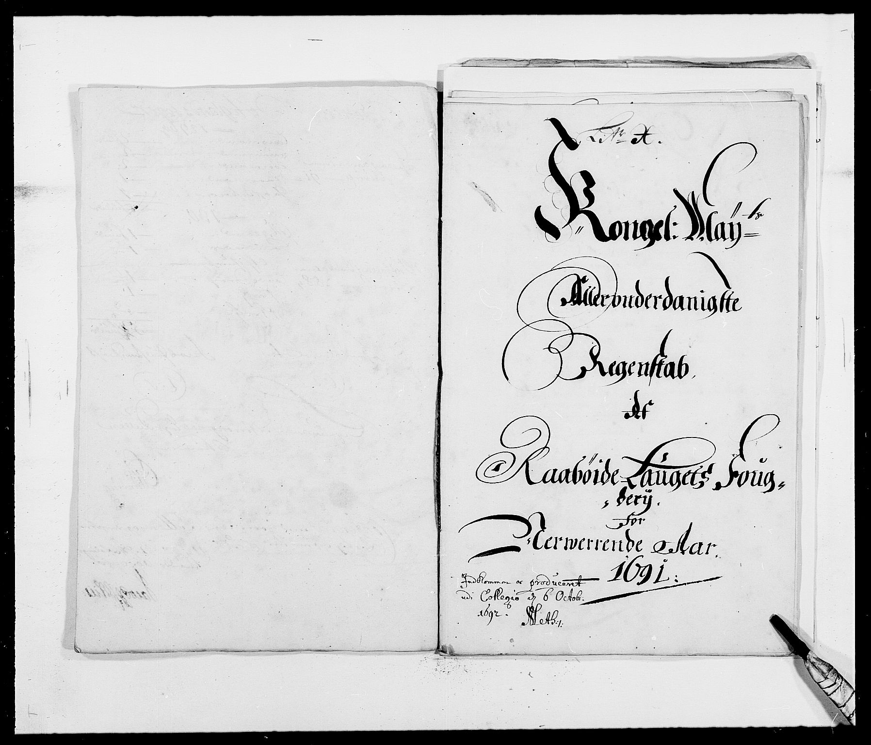 RA, Rentekammeret inntil 1814, Reviderte regnskaper, Fogderegnskap, R40/L2443: Fogderegnskap Råbyggelag, 1691-1692, s. 10