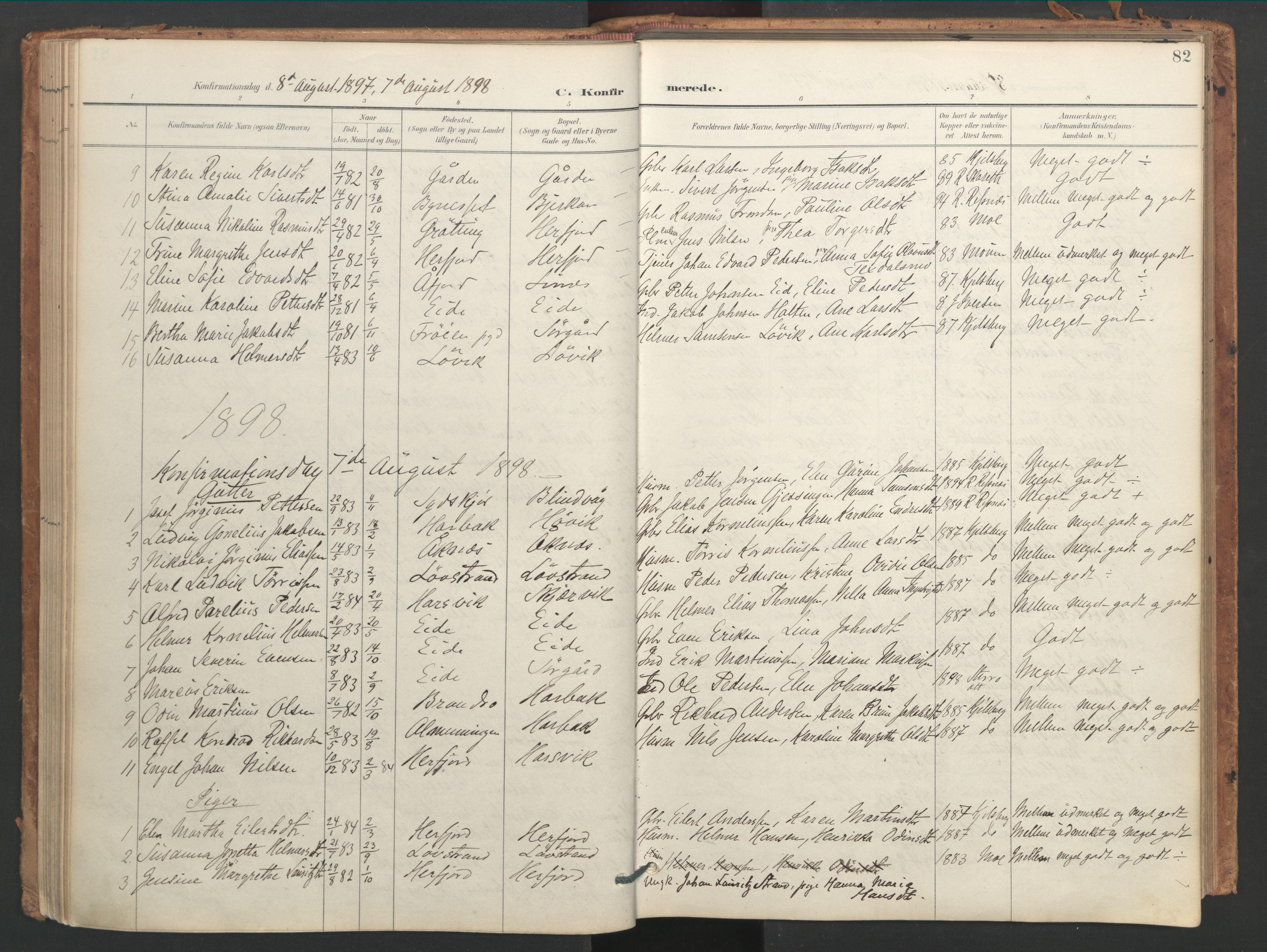 SAT, Ministerialprotokoller, klokkerbøker og fødselsregistre - Sør-Trøndelag, 656/L0693: Ministerialbok nr. 656A02, 1894-1913, s. 82