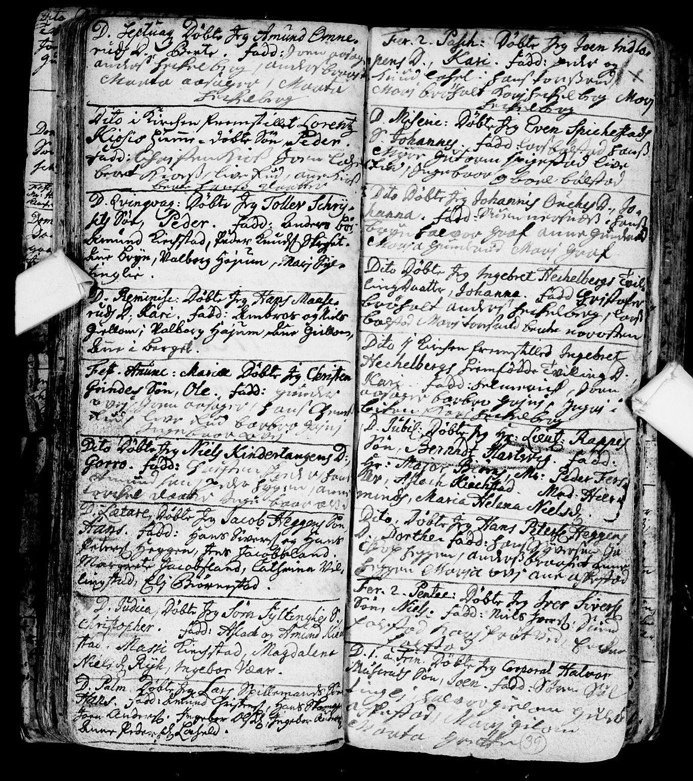 SAKO, Røyken kirkebøker, F/Fa/L0001: Ministerialbok nr. 1, 1701-1730, s. 39