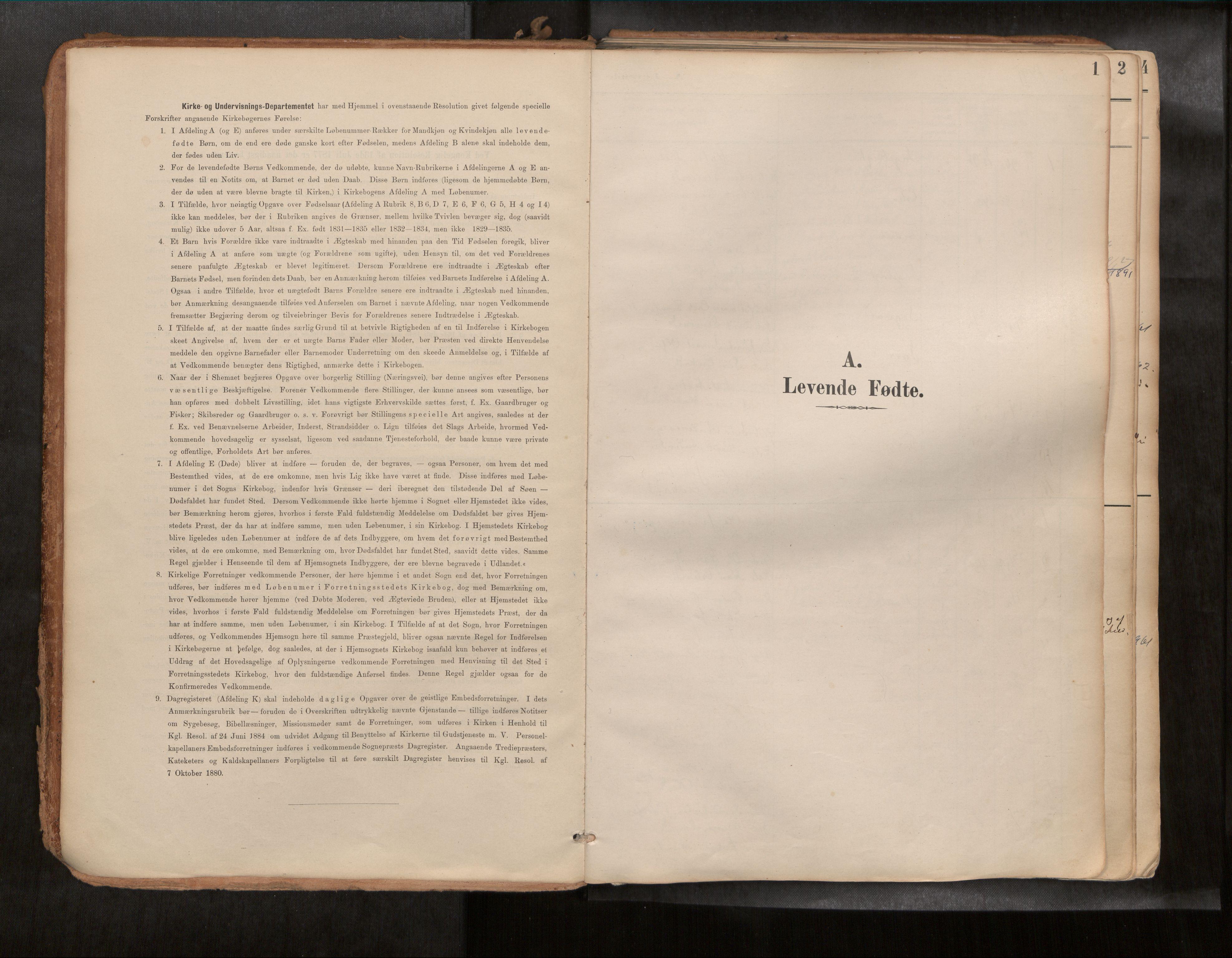 SAT, Ministerialprotokoller, klokkerbøker og fødselsregistre - Sør-Trøndelag, 692/L1105b: Ministerialbok nr. 692A06, 1891-1934, s. 1