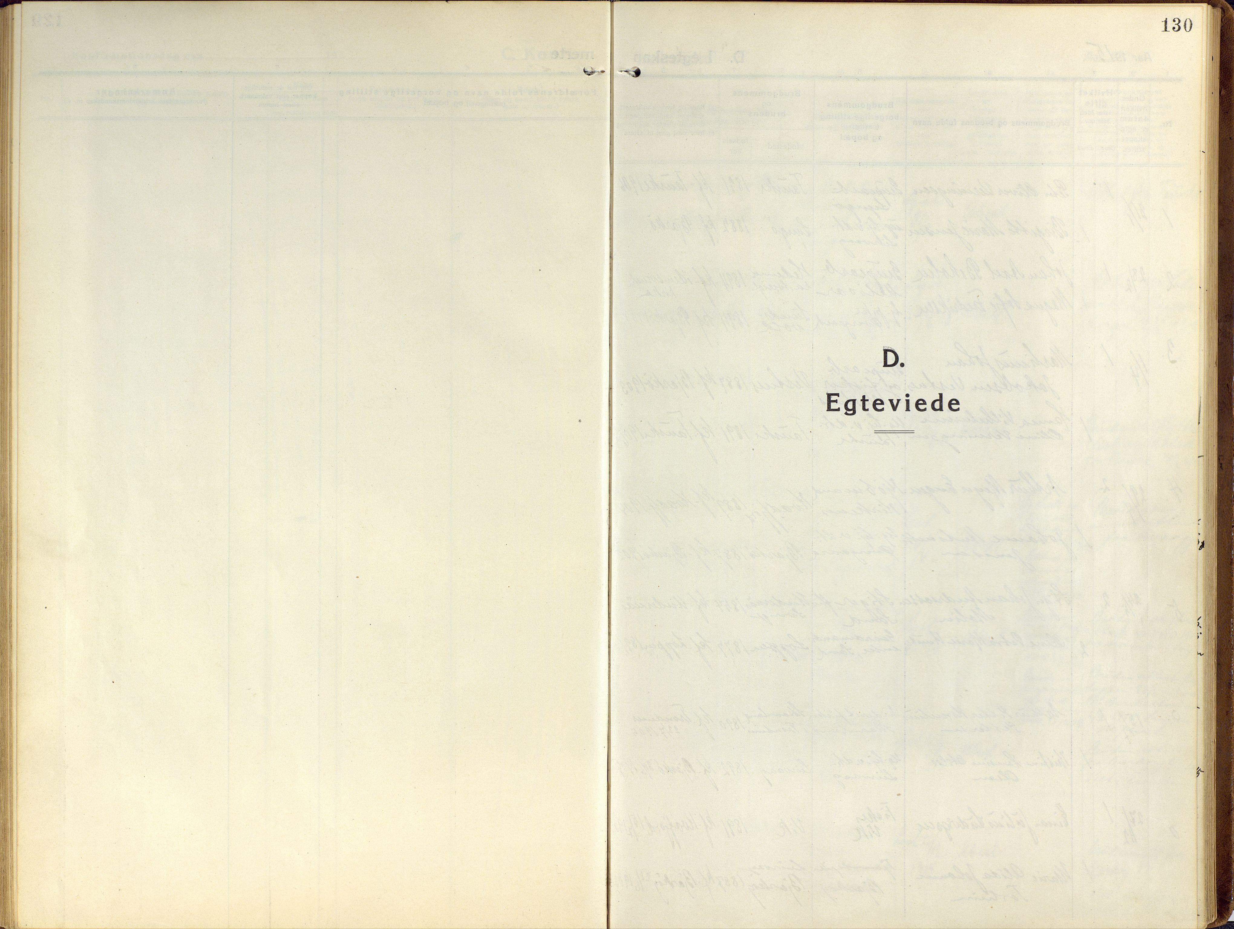 SATØ, Sand/Bjarkøy sokneprestkontor, I/Ia/Iaa/L0006kirke: Ministerialbok nr. 6, 1915-1929, s. 130