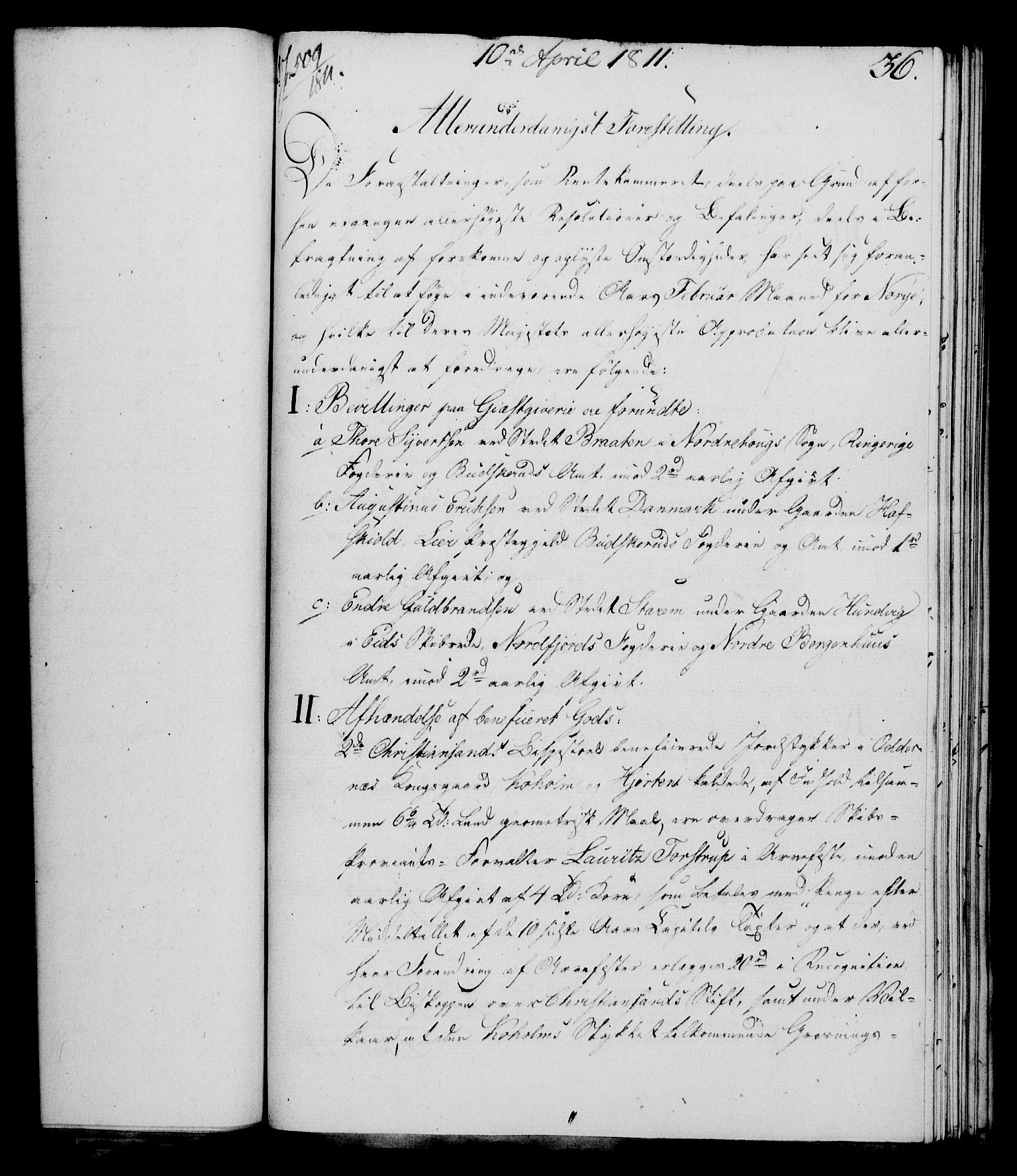 RA, Rentekammeret, Kammerkanselliet, G/Gf/Gfa/L0093: Norsk relasjons- og resolusjonsprotokoll (merket RK 52.93), 1811, s. 161