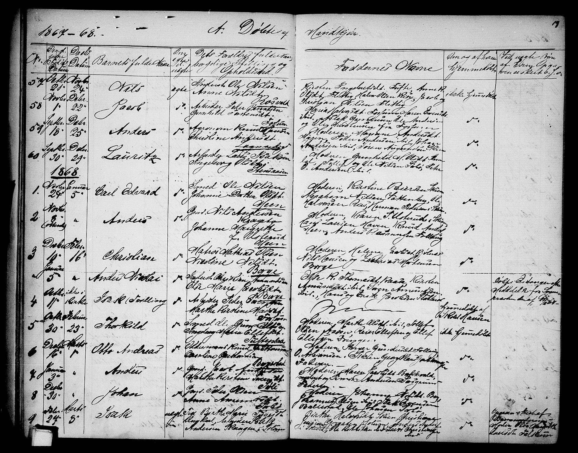 SAKO, Gjerpen kirkebøker, G/Ga/L0001: Klokkerbok nr. I 1, 1864-1882, s. 19