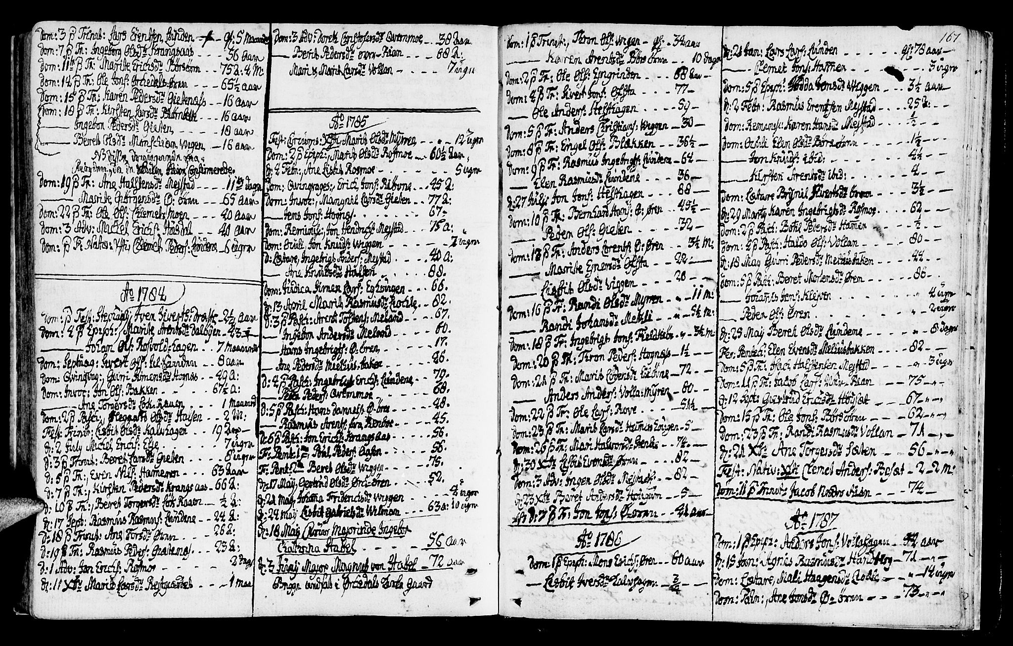 SAT, Ministerialprotokoller, klokkerbøker og fødselsregistre - Sør-Trøndelag, 665/L0768: Ministerialbok nr. 665A03, 1754-1803, s. 167