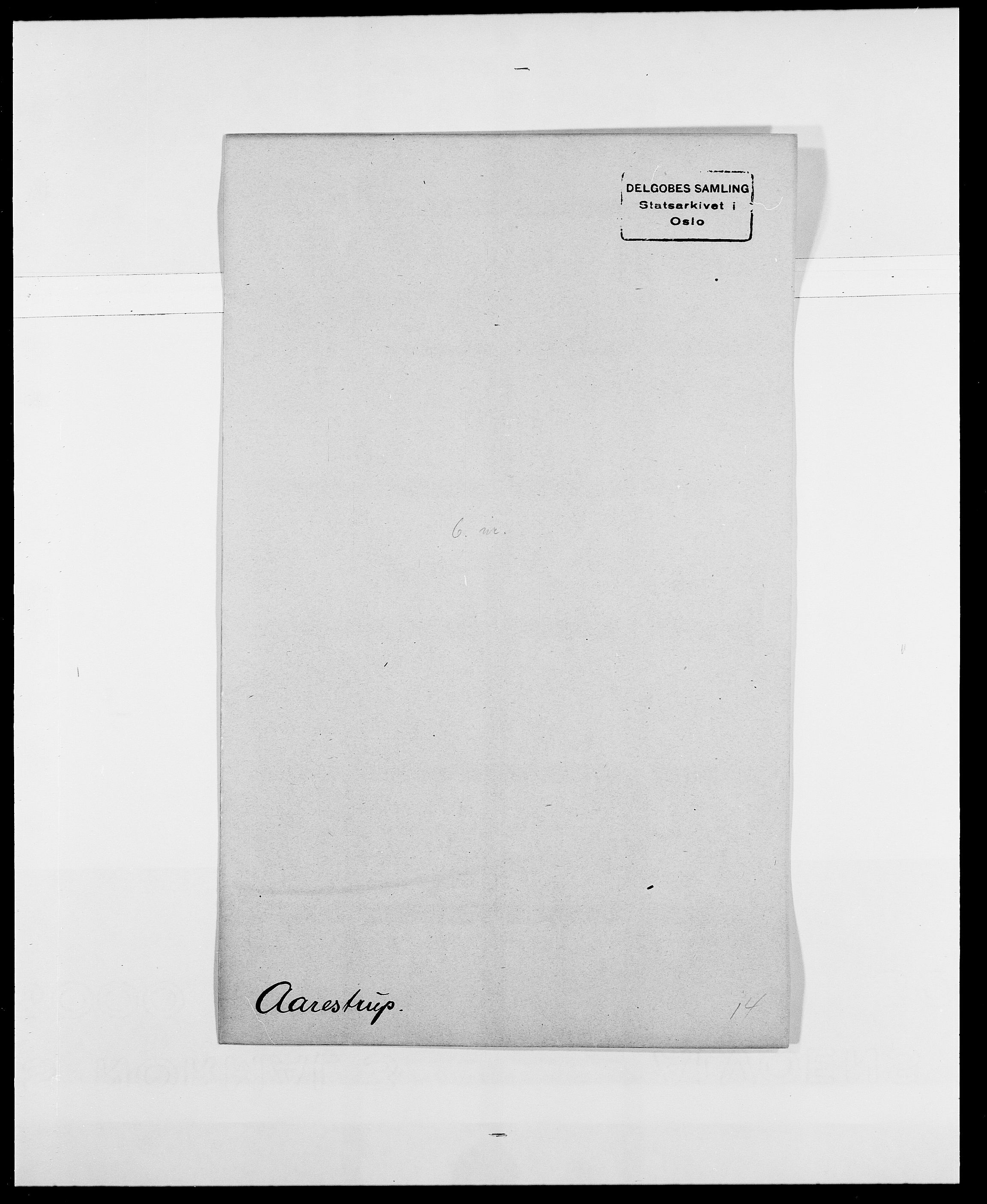 SAO, Delgobe, Charles Antoine - samling, D/Da/L0001: Aabye - Angerman, s. 85