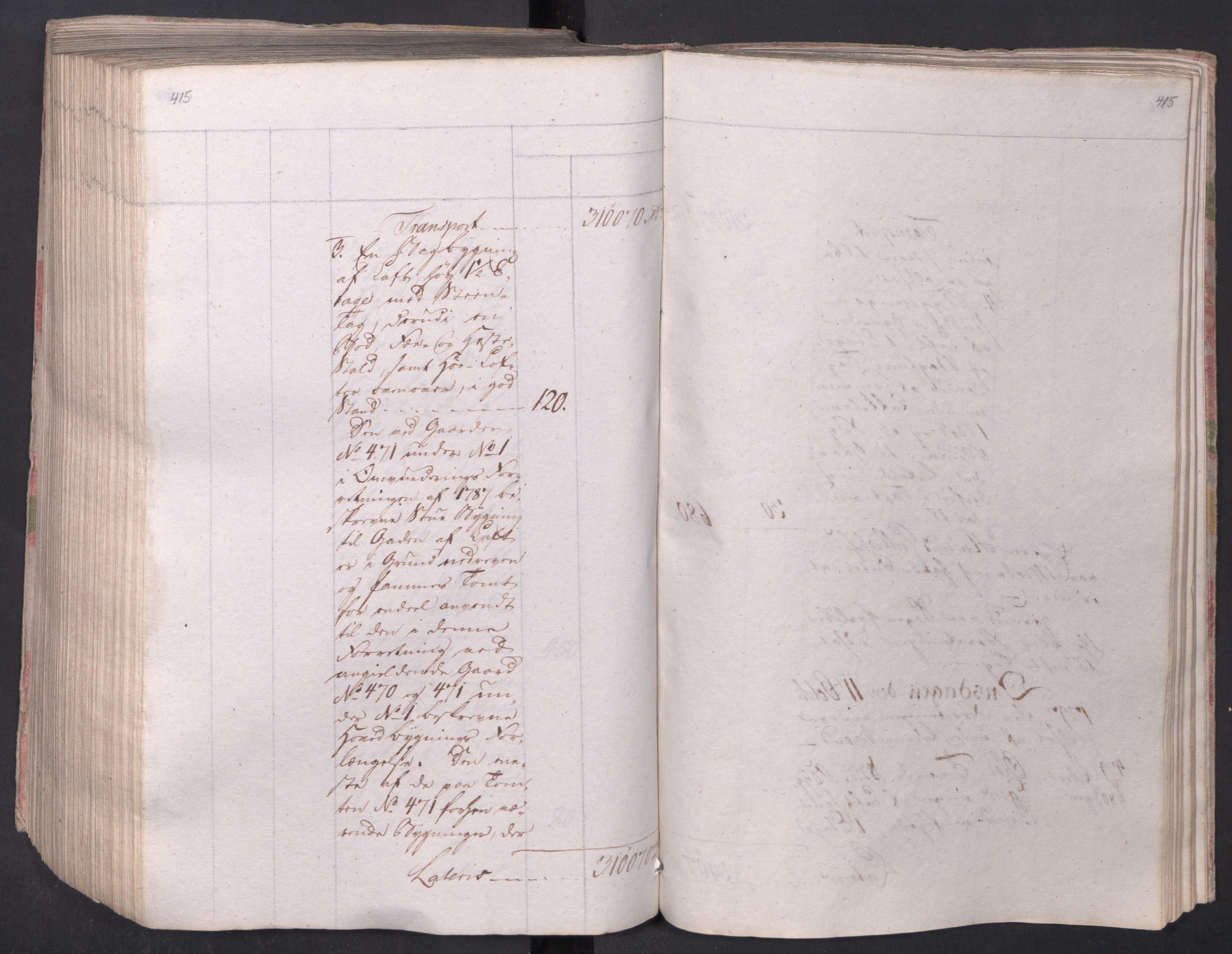 SAO, Kristiania stiftamt, I/Ia/L0015: Branntakster, 1797, s. 415