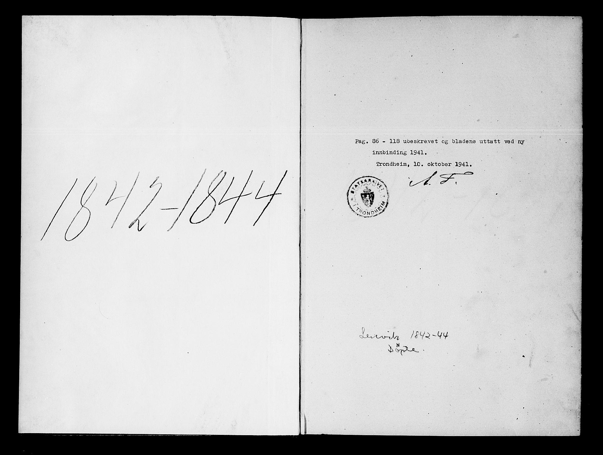 SATØ, Lenvik sokneprestembete, H/Ha: Ministerialbok nr. 5, 1842-1844