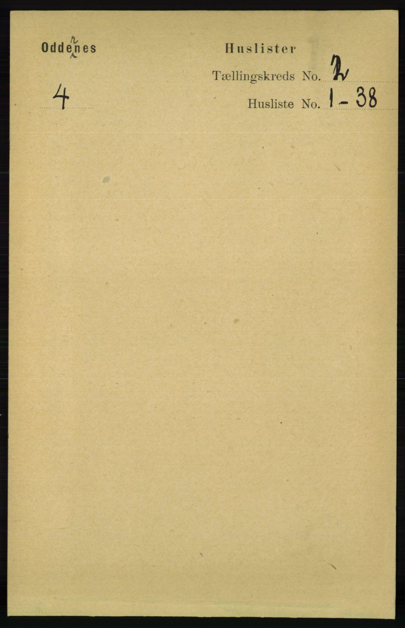RA, Folketelling 1891 for 1012 Oddernes herred, 1891, s. 522
