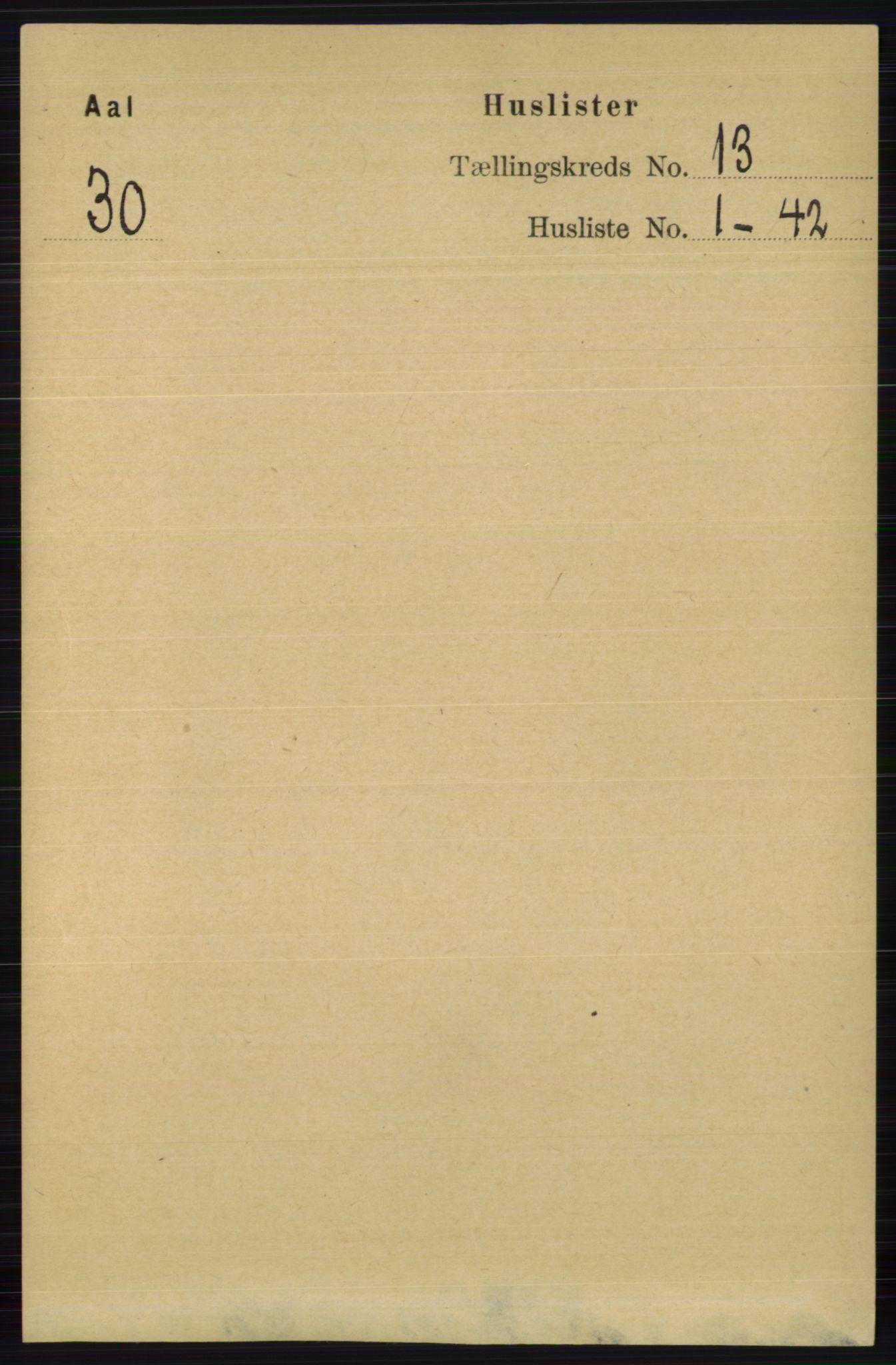 RA, Folketelling 1891 for 0619 Ål herred, 1891, s. 3212