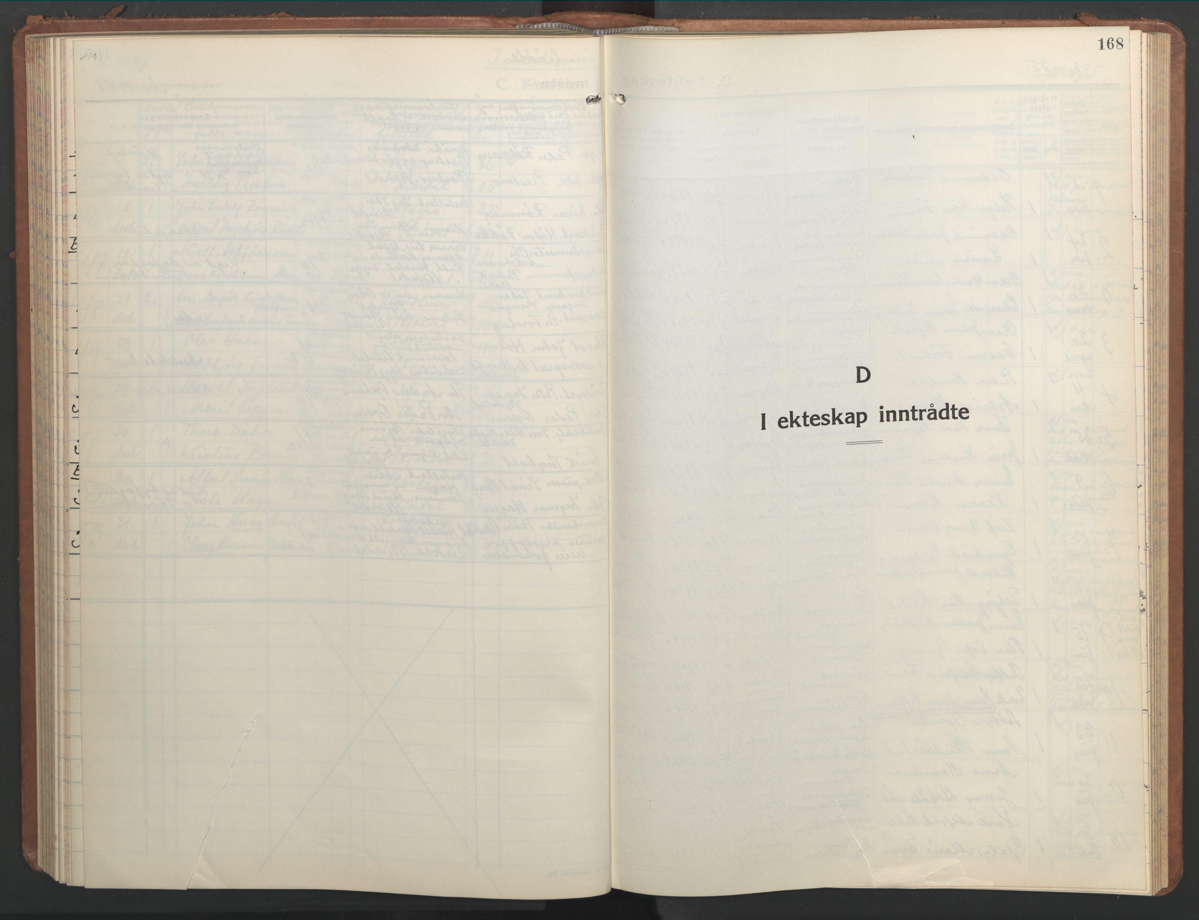 SAT, Ministerialprotokoller, klokkerbøker og fødselsregistre - Nord-Trøndelag, 709/L0089: Klokkerbok nr. 709C03, 1935-1948, s. 168