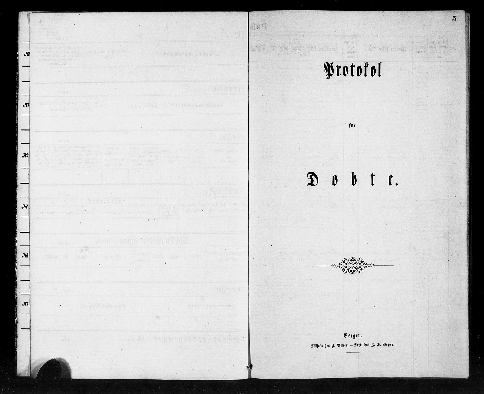 SAB, Den Norske Sjømannsmisjon i utlandet*, Ministerialbok nr. A 1, 1865-1880, s. 5