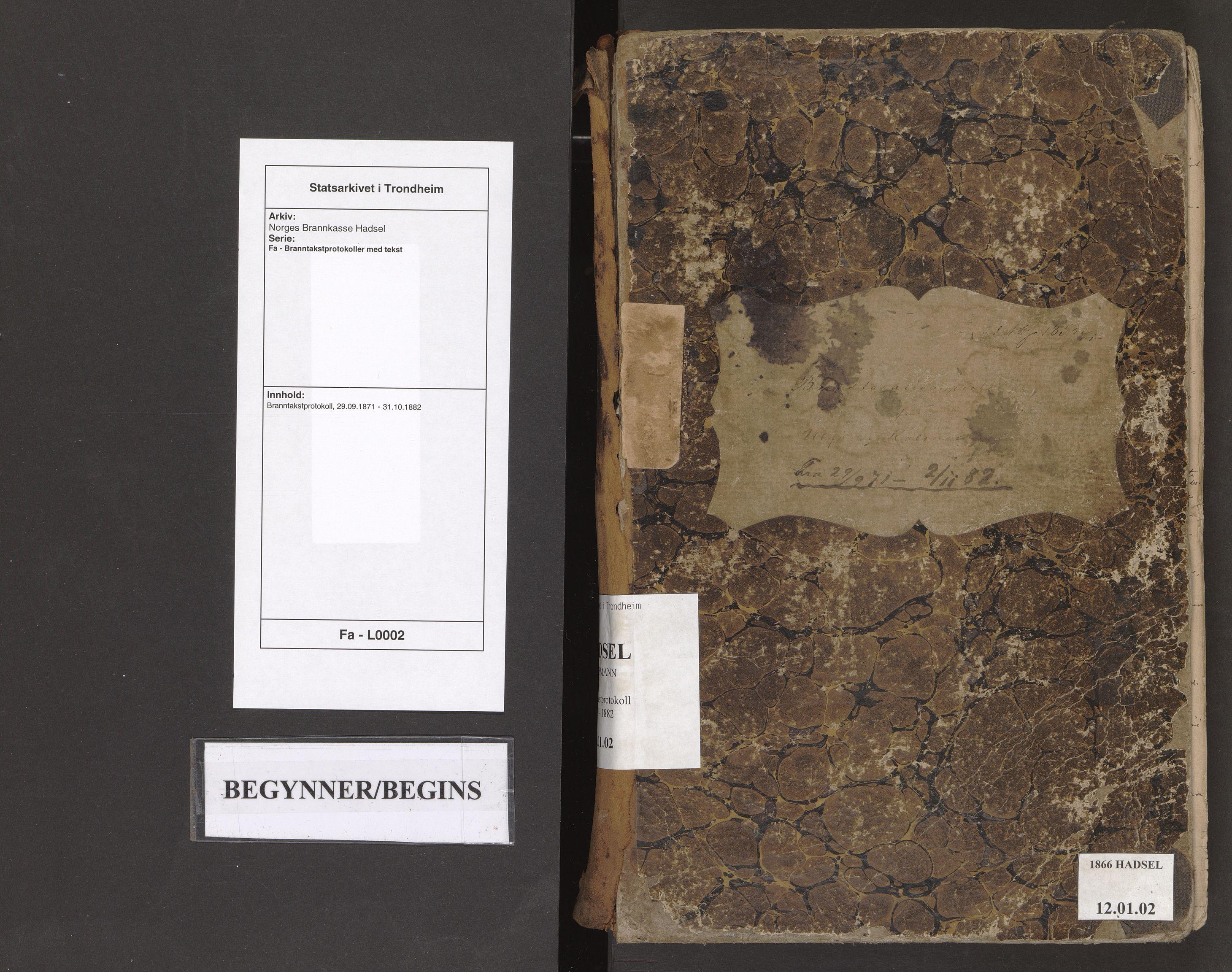 SAT, Norges Brannkasse Hadsel, Fa/L0002: Branntakstprotokoll, 1871-1882