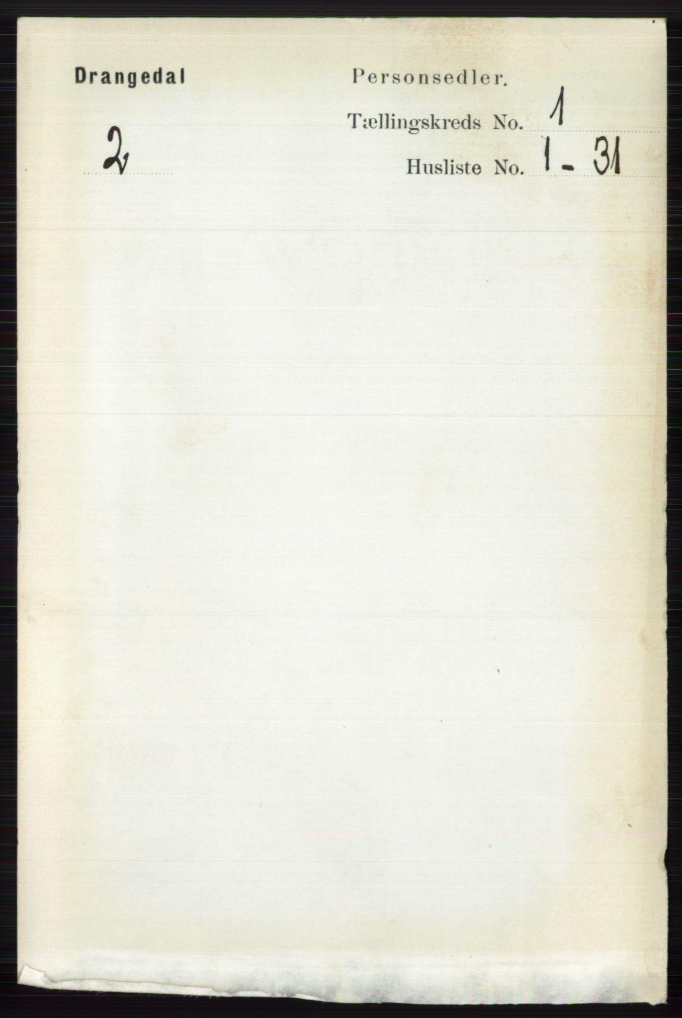 RA, Folketelling 1891 for 0817 Drangedal herred, 1891, s. 89