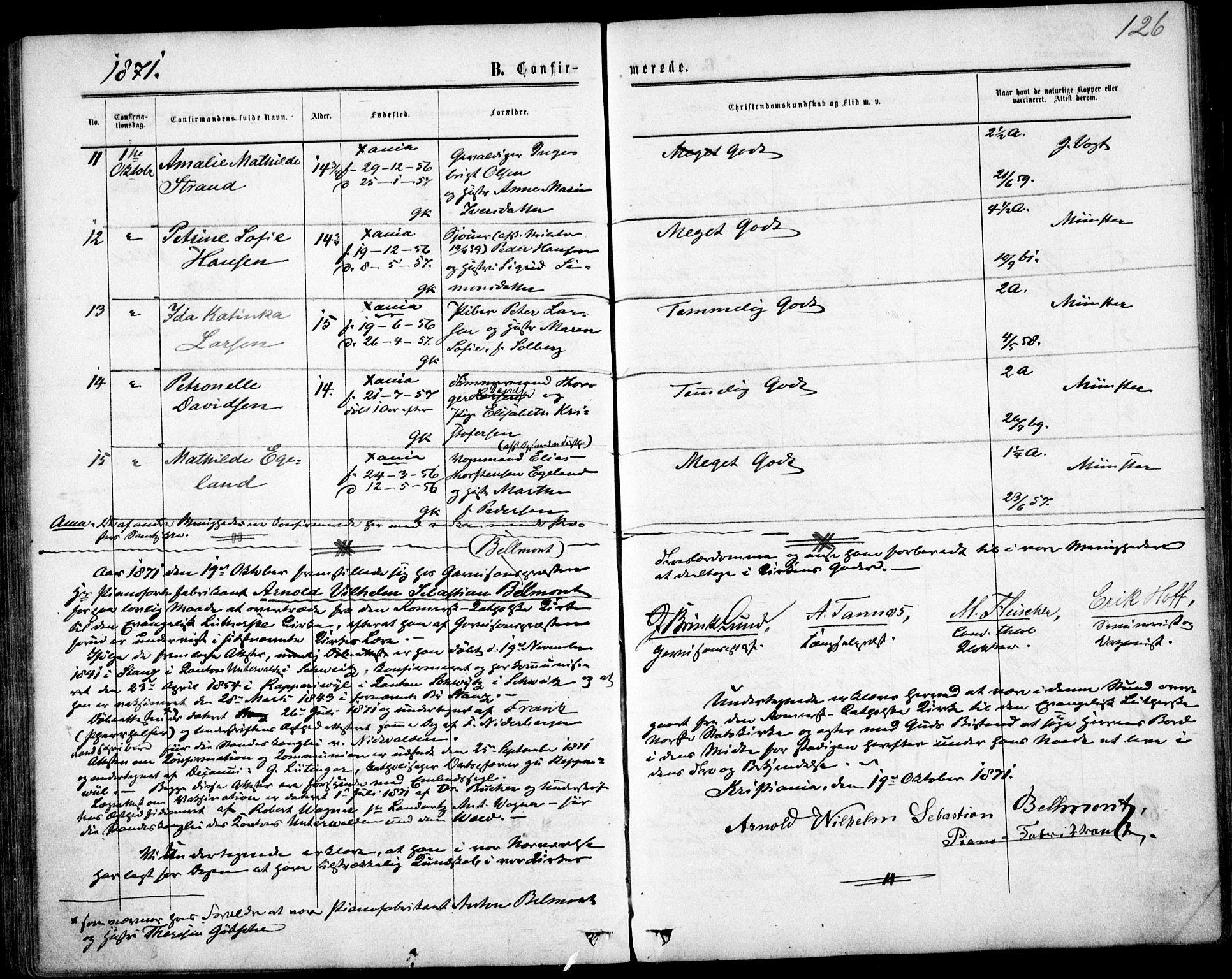 SAO, Garnisonsmenigheten Kirkebøker, F/Fa/L0011: Ministerialbok nr. 11, 1870-1880, s. 126