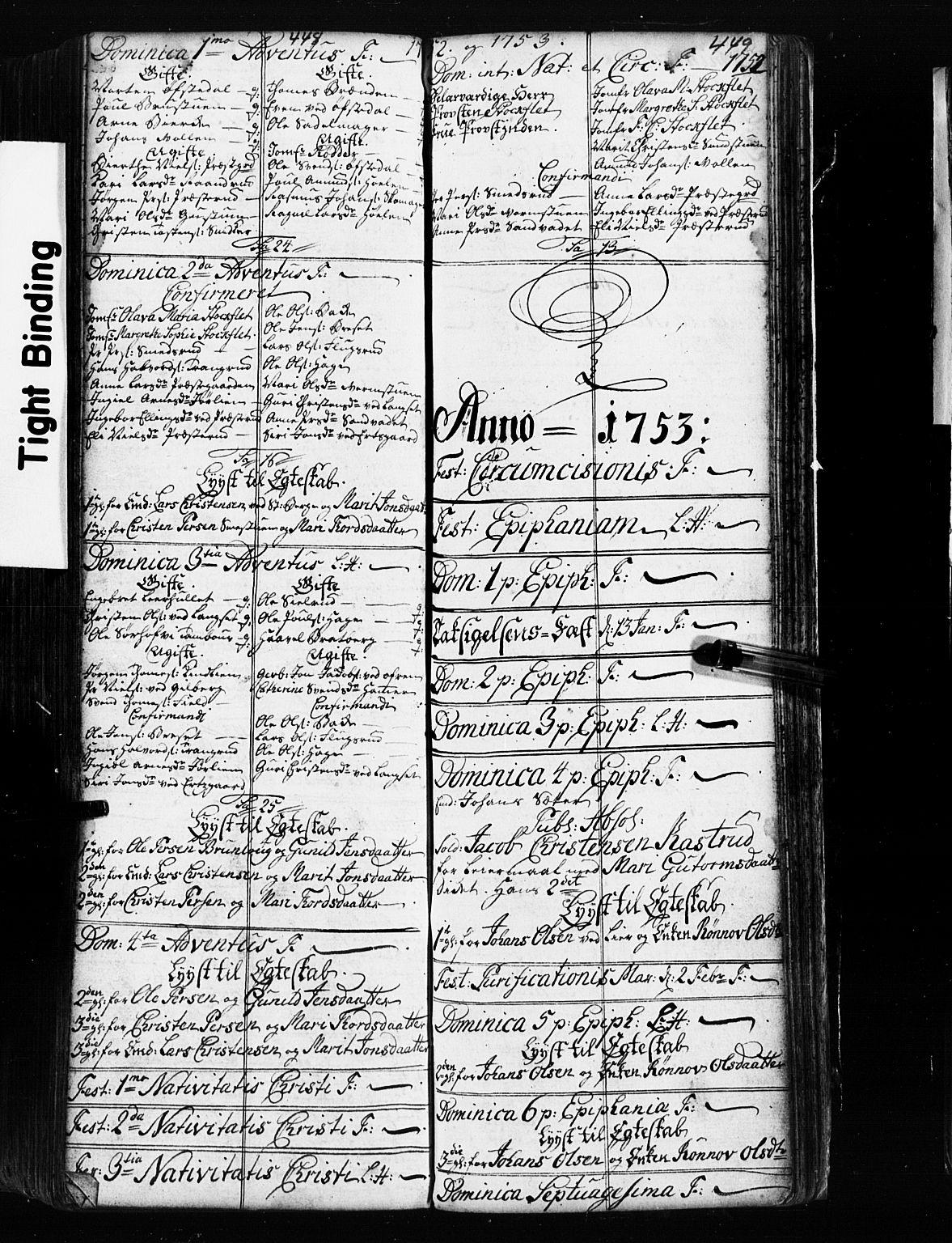 SAH, Fåberg prestekontor, Klokkerbok nr. 2, 1741-1756, s. 448-449
