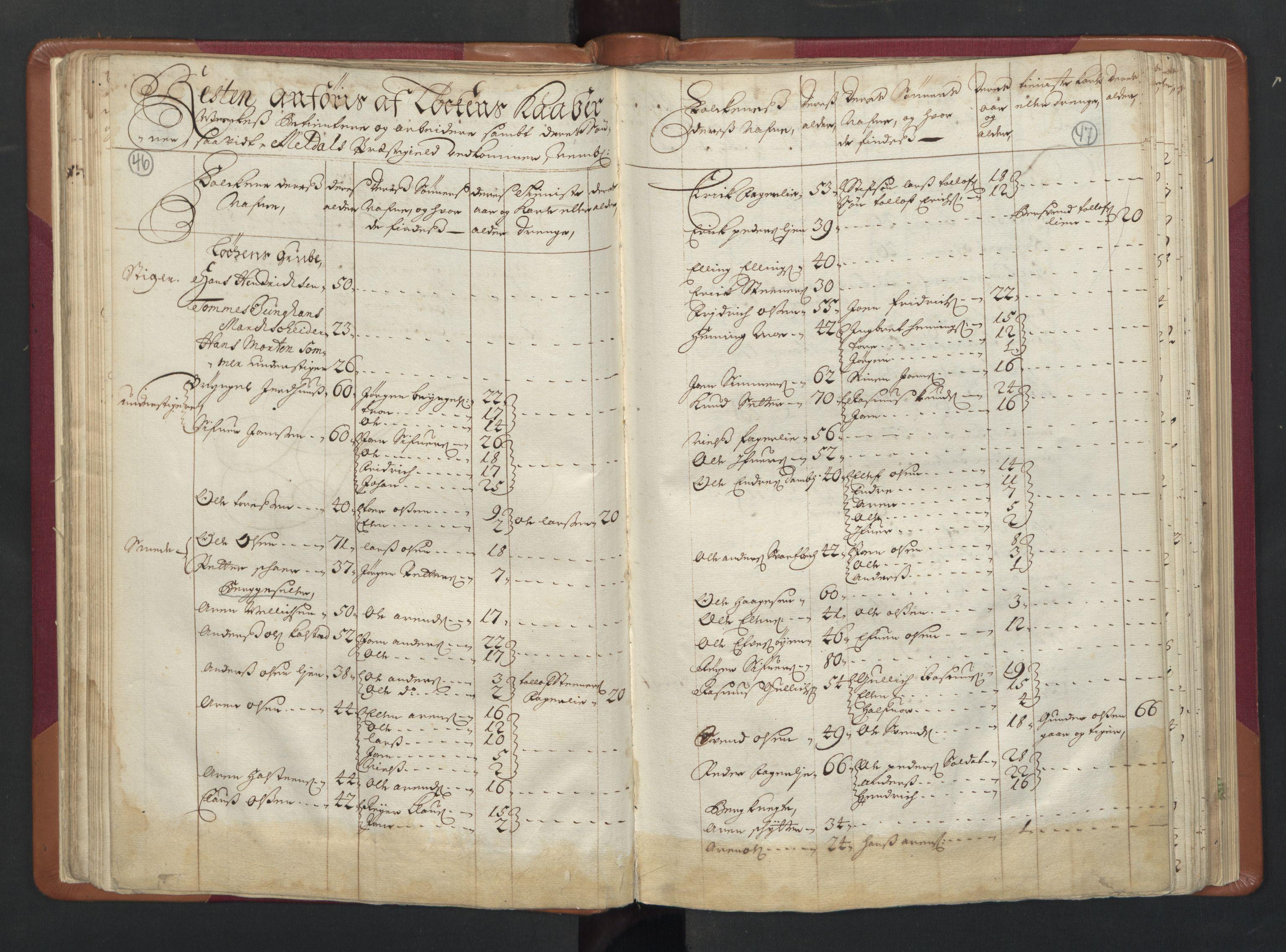 RA, Manntallet 1701, nr. 13: Orkdal fogderi og Gauldal fogderi med Røros kobberverk, 1701, s. 46-47