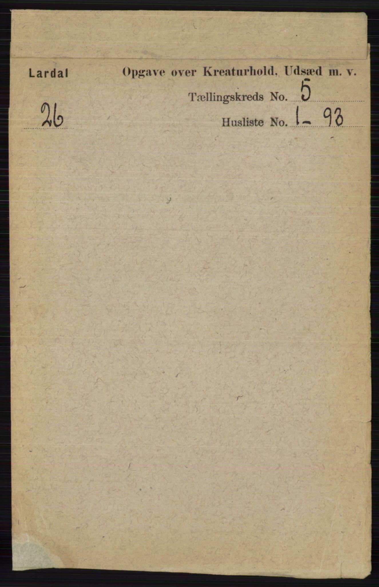 RA, Folketelling 1891 for 0728 Lardal herred, 1891, s. 4035