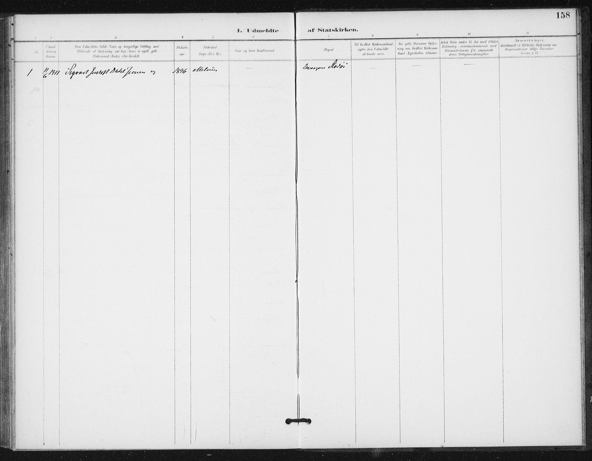 SAT, Ministerialprotokoller, klokkerbøker og fødselsregistre - Sør-Trøndelag, 654/L0664: Ministerialbok nr. 654A02, 1895-1907, s. 158