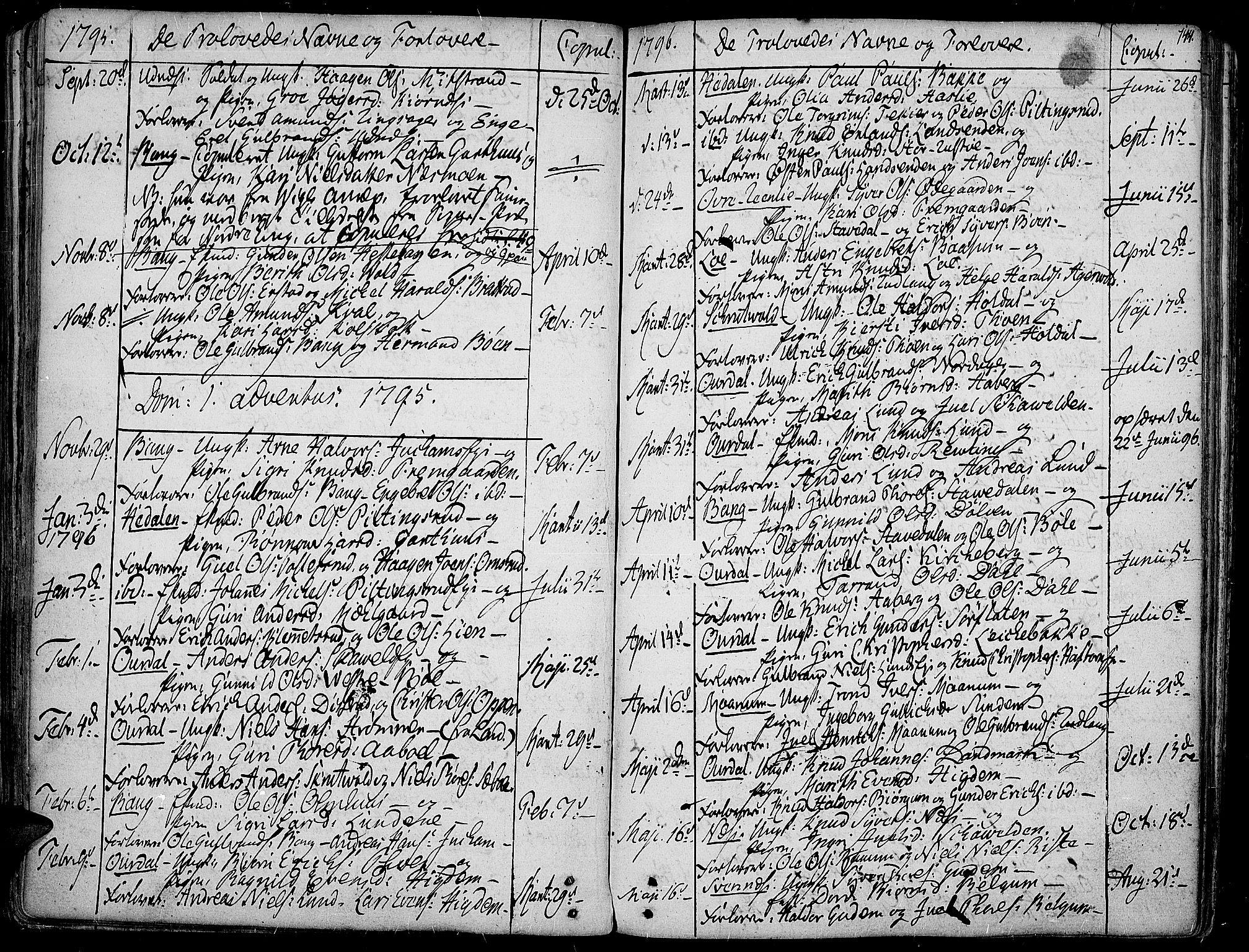 SAH, Aurdal prestekontor, Ministerialbok nr. 6, 1781-1804, s. 144