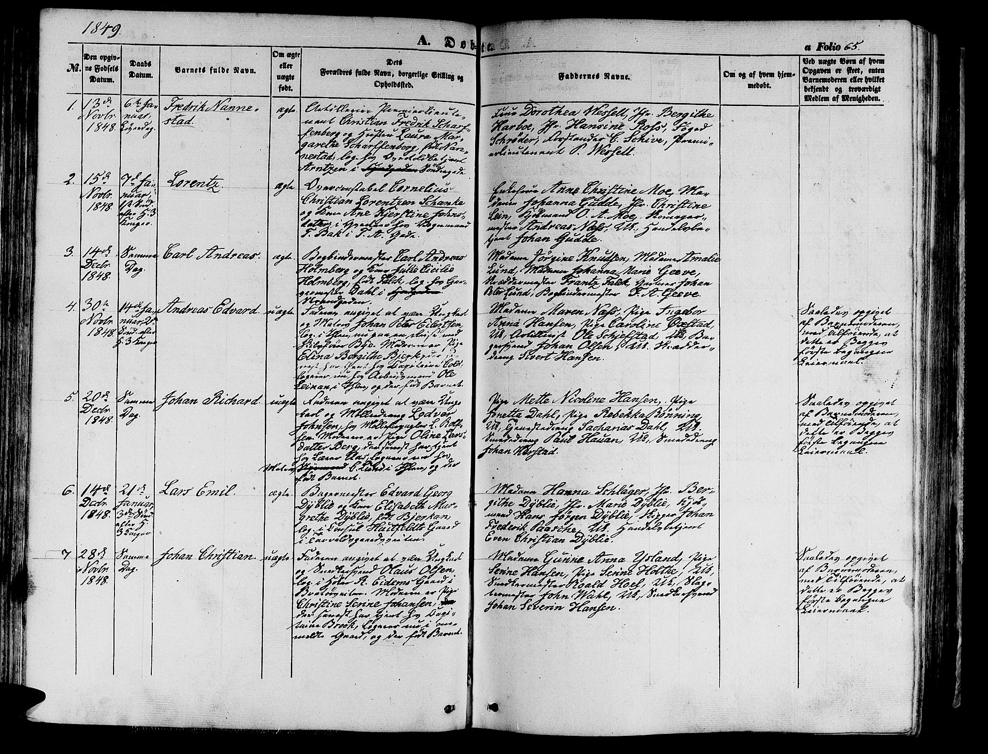 SAT, Ministerialprotokoller, klokkerbøker og fødselsregistre - Sør-Trøndelag, 602/L0137: Klokkerbok nr. 602C05, 1846-1856, s. 65