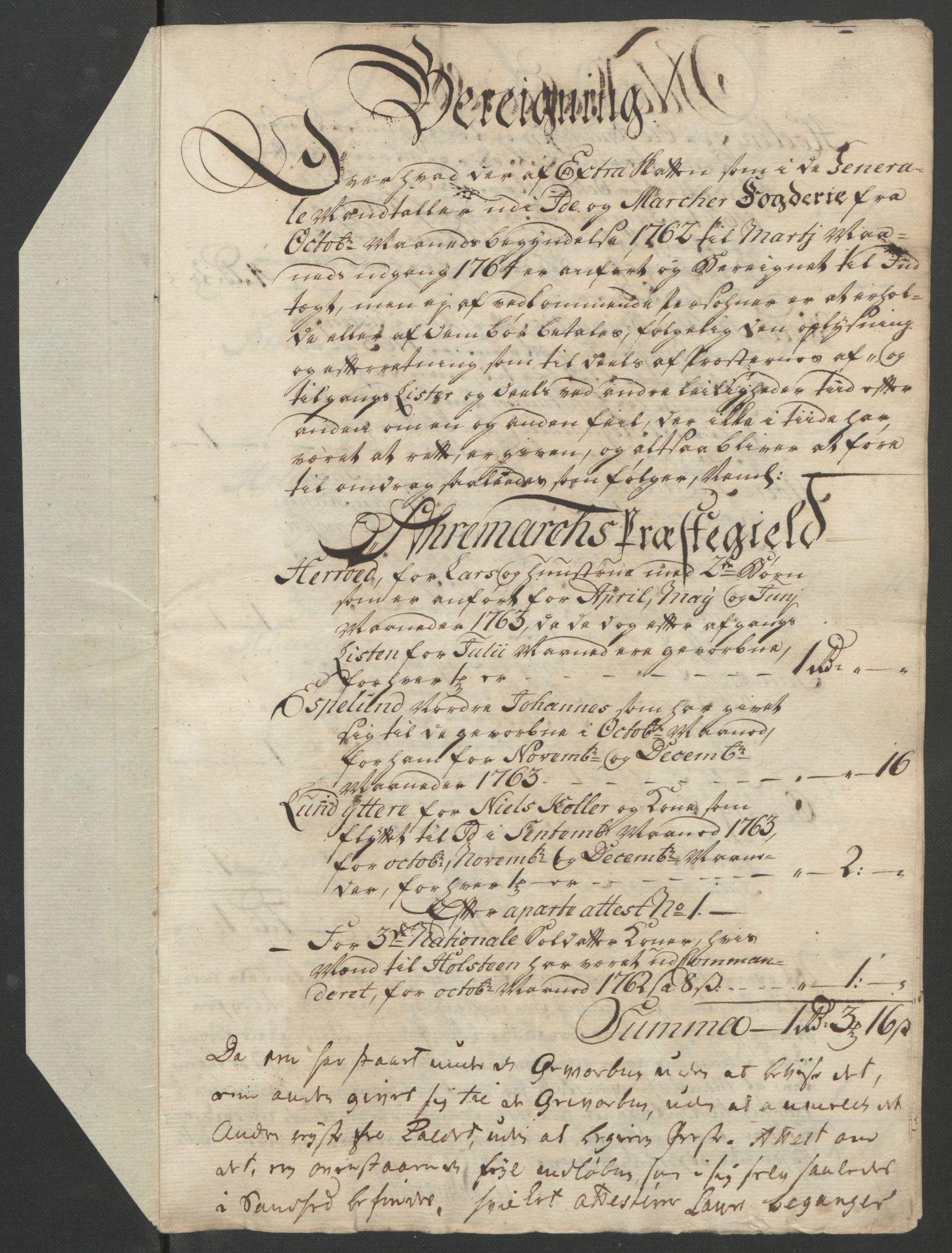 RA, Rentekammeret inntil 1814, Reviderte regnskaper, Fogderegnskap, R01/L0097: Ekstraskatten Idd og Marker, 1756-1767, s. 219