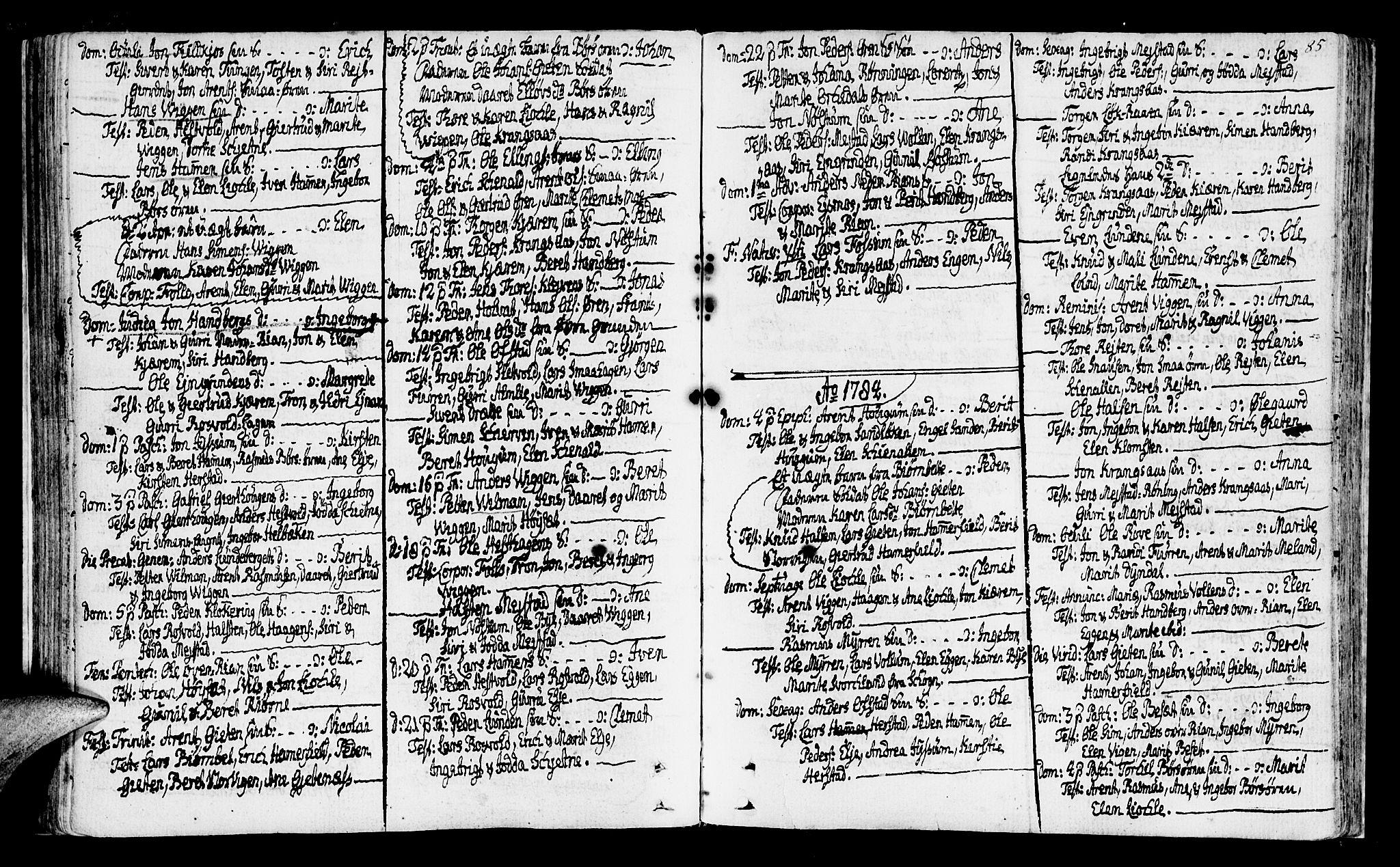 SAT, Ministerialprotokoller, klokkerbøker og fødselsregistre - Sør-Trøndelag, 665/L0768: Ministerialbok nr. 665A03, 1754-1803, s. 85