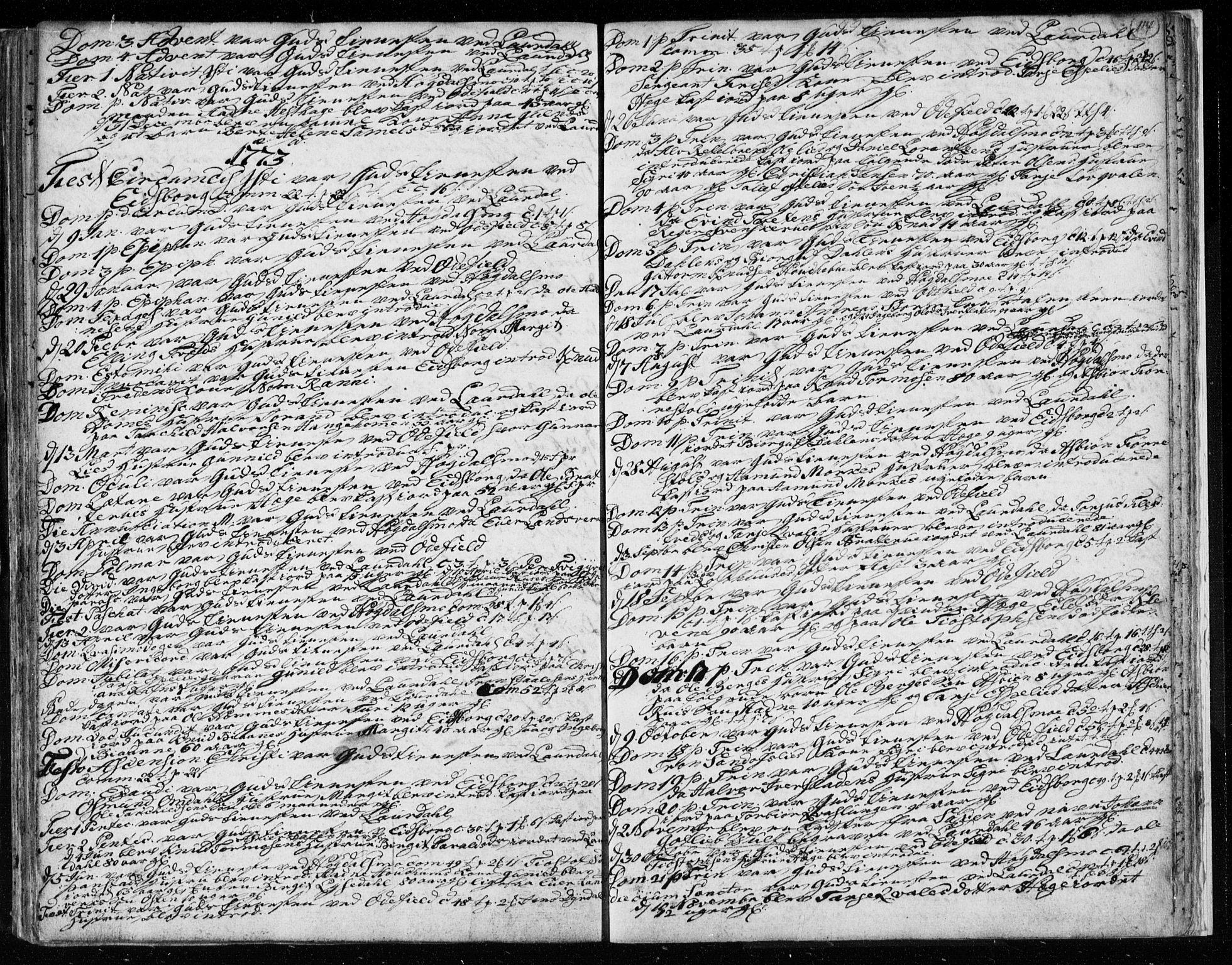 SAKO, Lårdal kirkebøker, F/Fa/L0003: Ministerialbok nr. I 3, 1754-1790, s. 114