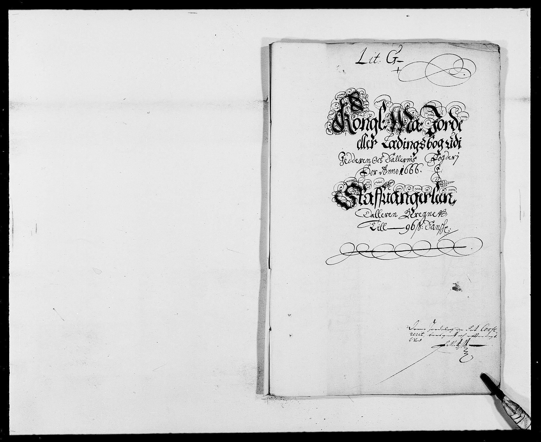 RA, Rentekammeret inntil 1814, Reviderte regnskaper, Fogderegnskap, R46/L2709: Fogderegnskap Jæren og Dalane, 1665-1667, s. 209