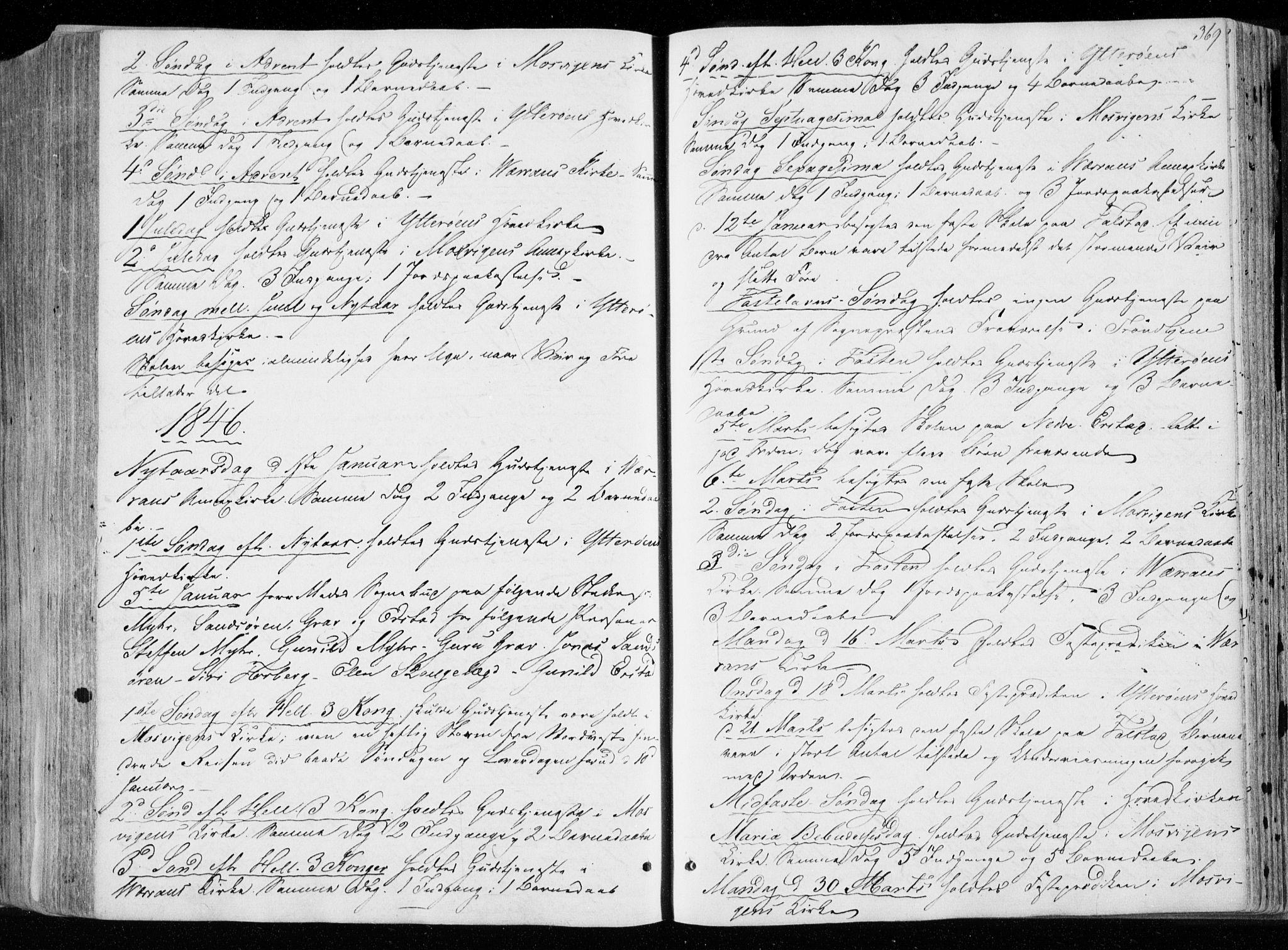 SAT, Ministerialprotokoller, klokkerbøker og fødselsregistre - Nord-Trøndelag, 722/L0218: Ministerialbok nr. 722A05, 1843-1868, s. 369