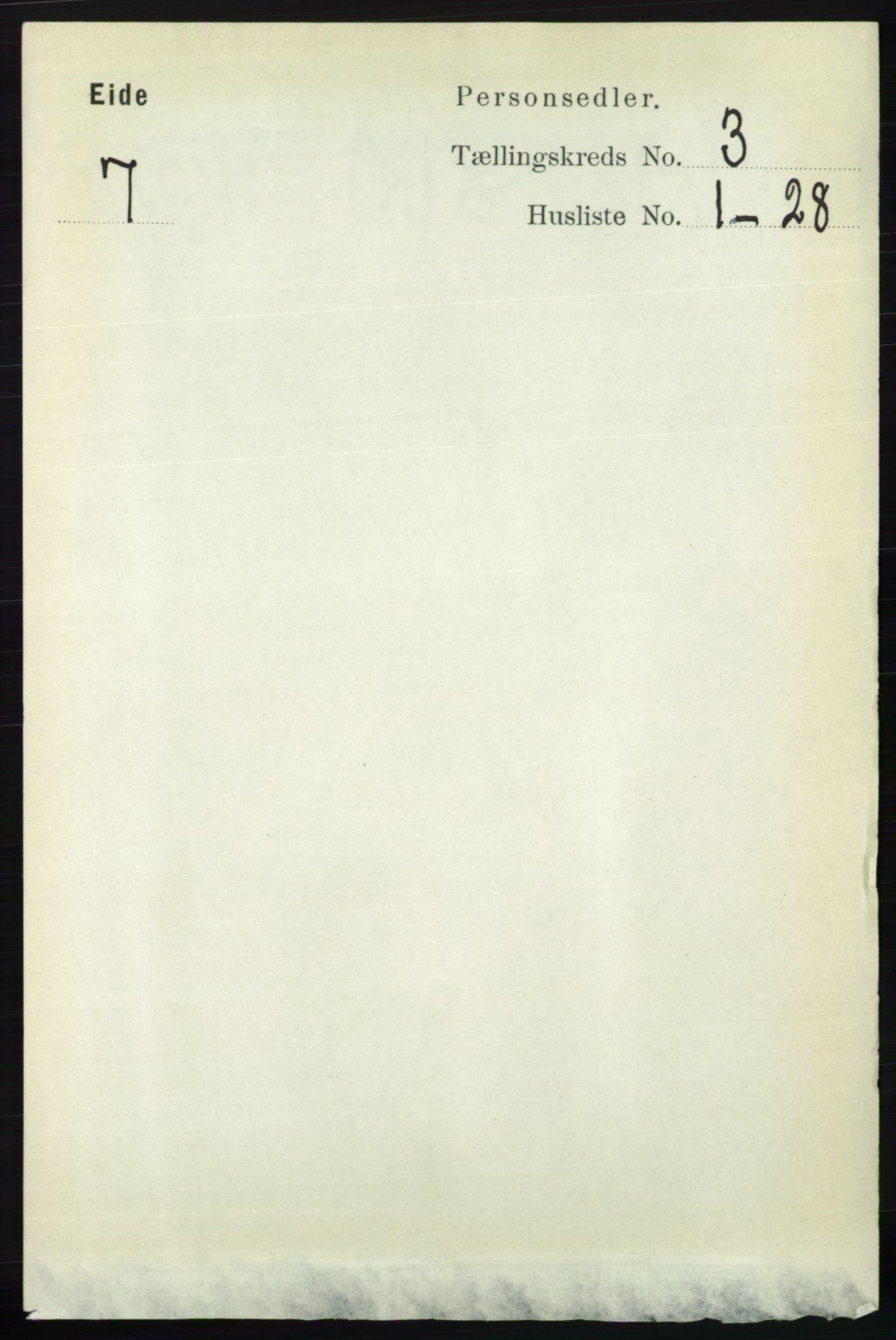 RA, Folketelling 1891 for 0925 Eide herred, 1891, s. 719