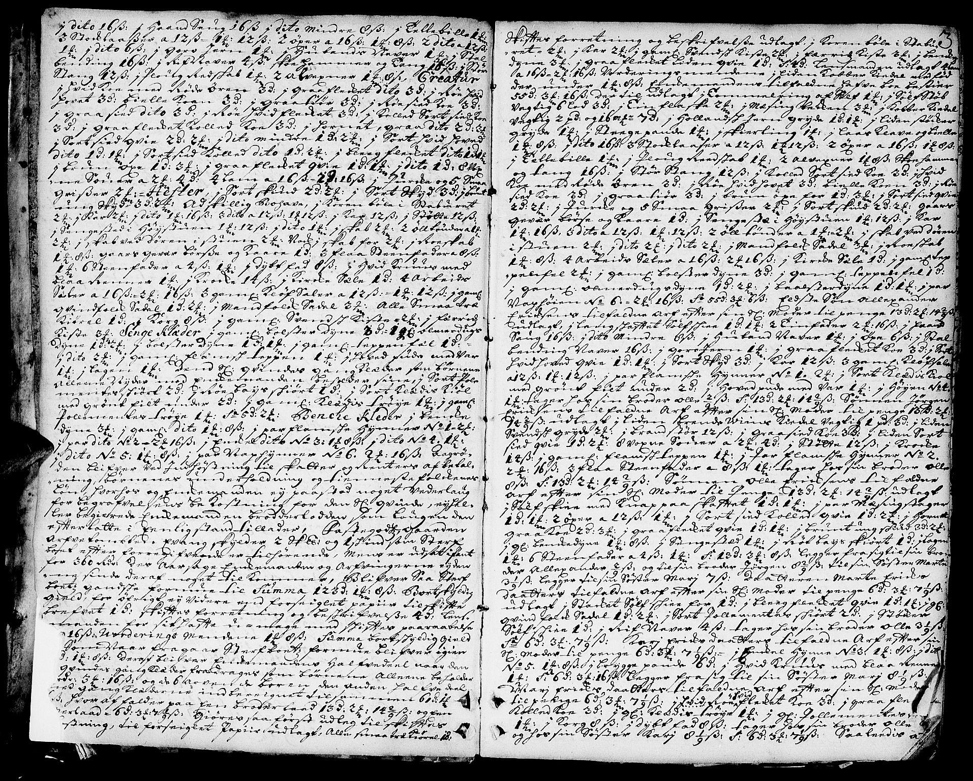 SAH, Toten tingrett, J/Ja/L0006: Skifteprotokoll, 1706-1722, s. 2b-3a