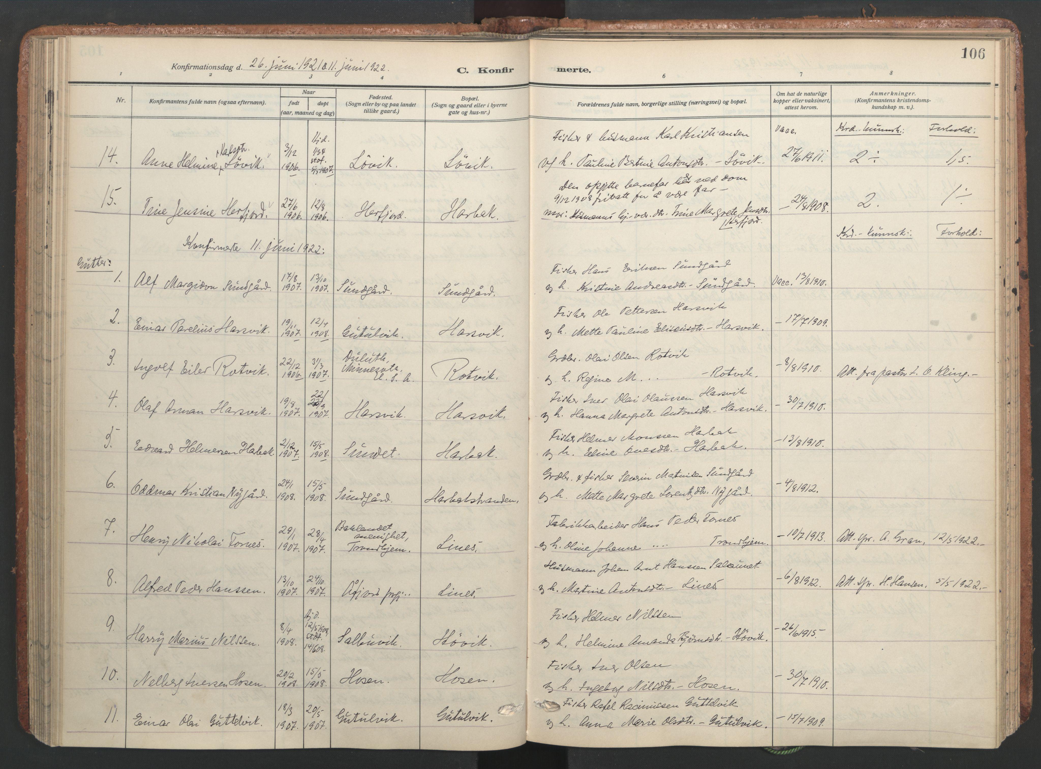 SAT, Ministerialprotokoller, klokkerbøker og fødselsregistre - Sør-Trøndelag, 656/L0694: Ministerialbok nr. 656A03, 1914-1931, s. 106