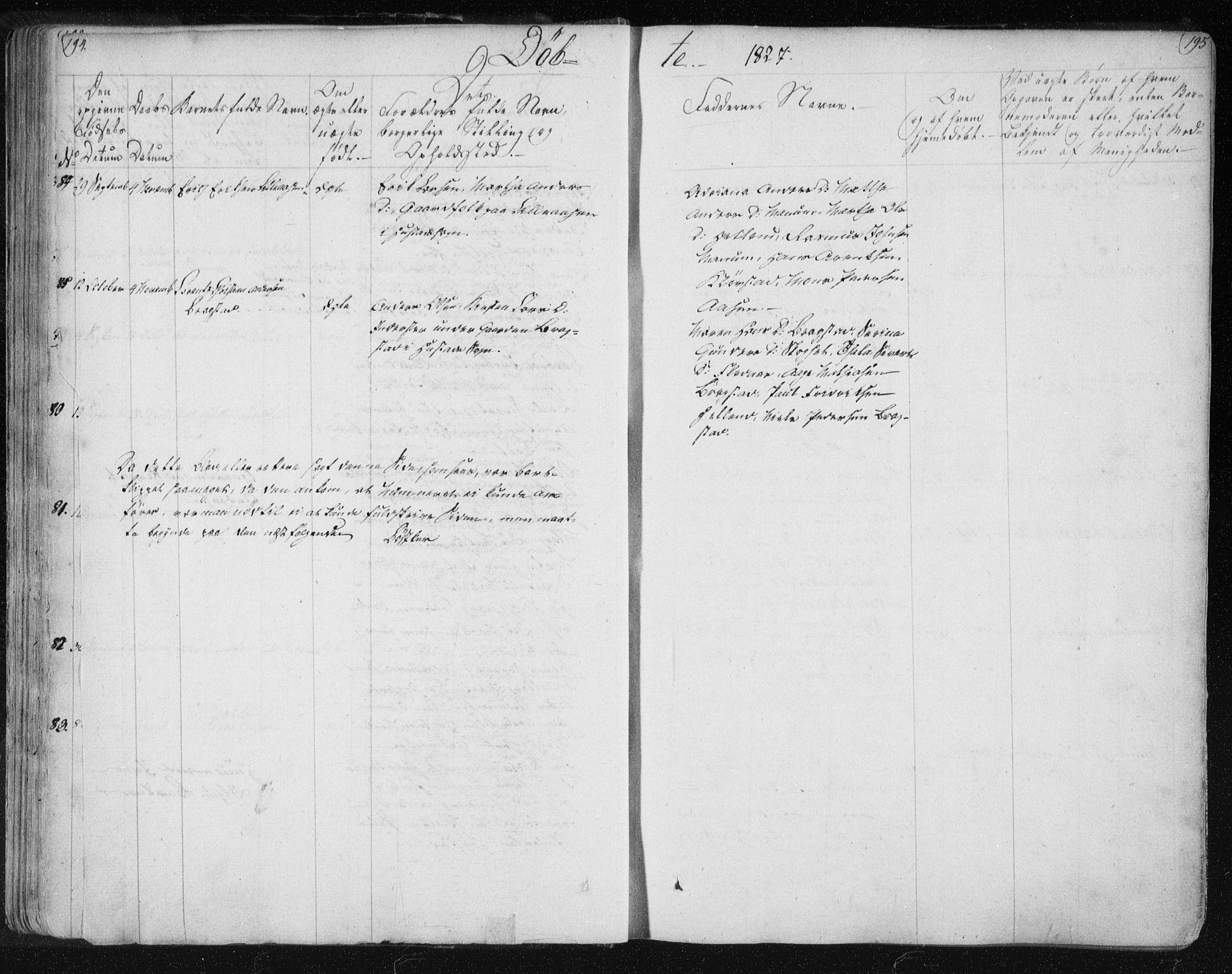 SAT, Ministerialprotokoller, klokkerbøker og fødselsregistre - Nord-Trøndelag, 730/L0276: Ministerialbok nr. 730A05, 1822-1830, s. 194-195