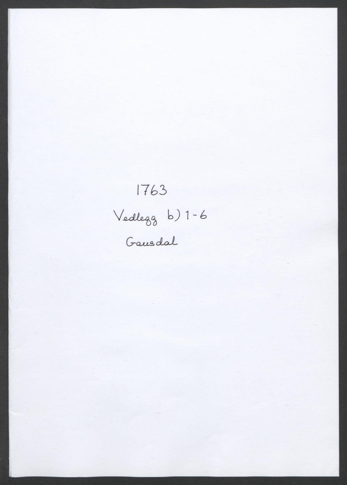 RA, Rentekammeret inntil 1814, Reviderte regnskaper, Fogderegnskap, R17/L1266: Ekstraskatten Gudbrandsdal, 1762-1766, s. 125