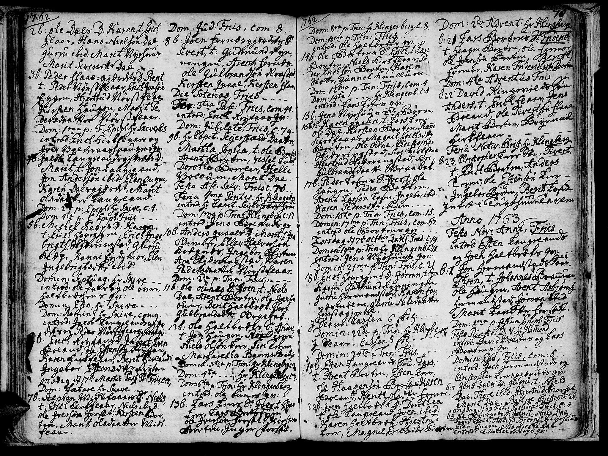 SAT, Ministerialprotokoller, klokkerbøker og fødselsregistre - Sør-Trøndelag, 691/L1058: Ministerialbok nr. 691A01 /2, 1740-1767, s. 78