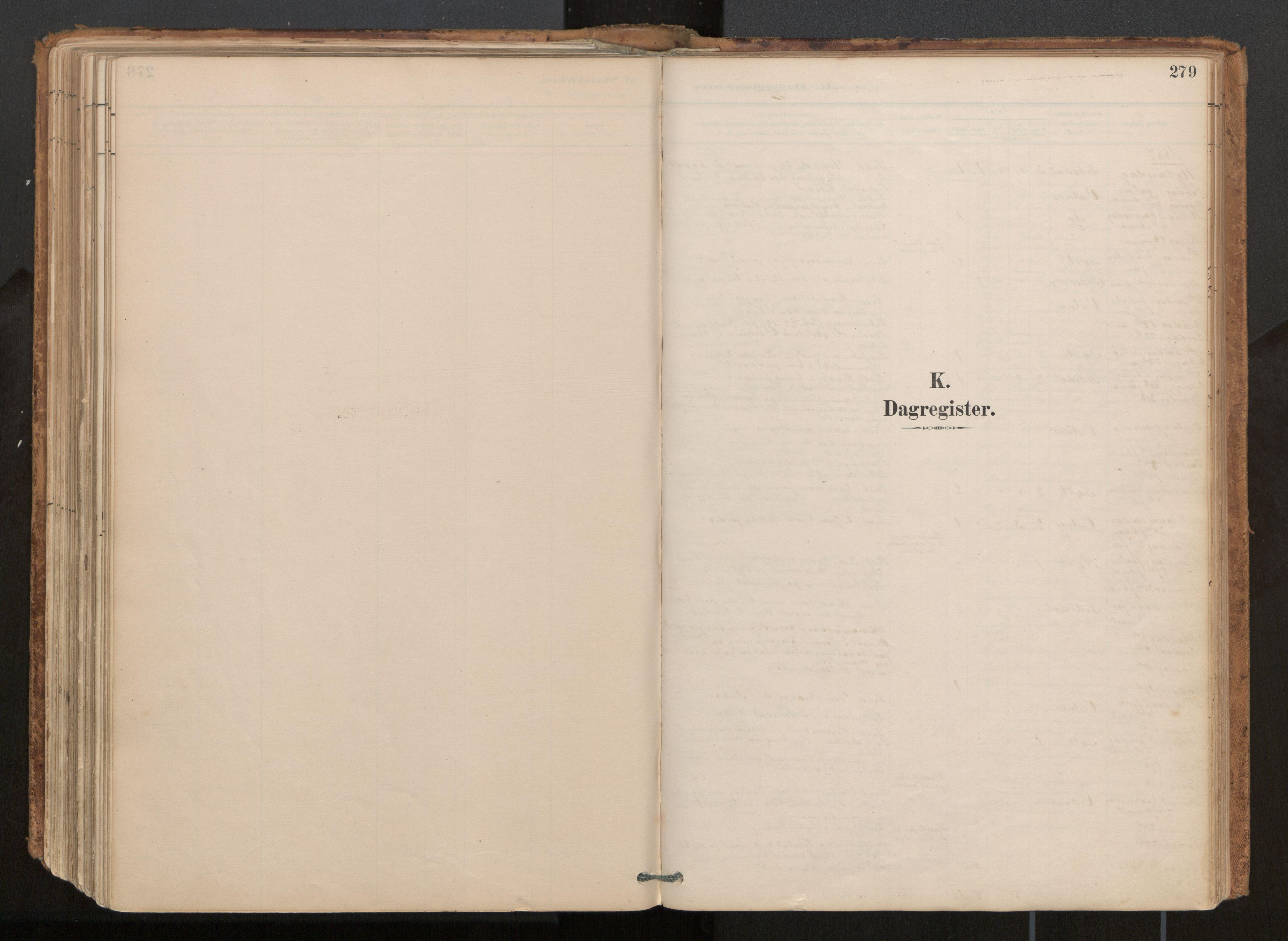 SAT, Ministerialprotokoller, klokkerbøker og fødselsregistre - Møre og Romsdal, 539/L0531: Ministerialbok nr. 539A04, 1887-1913, s. 279