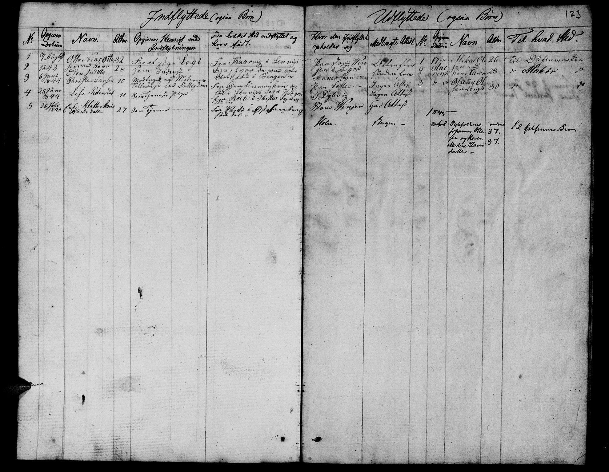 SATØ, Tranøy sokneprestkontor, I/Ia/Iab/L0010klokker: Klokkerbok nr. 10, 1835-1844, s. 123