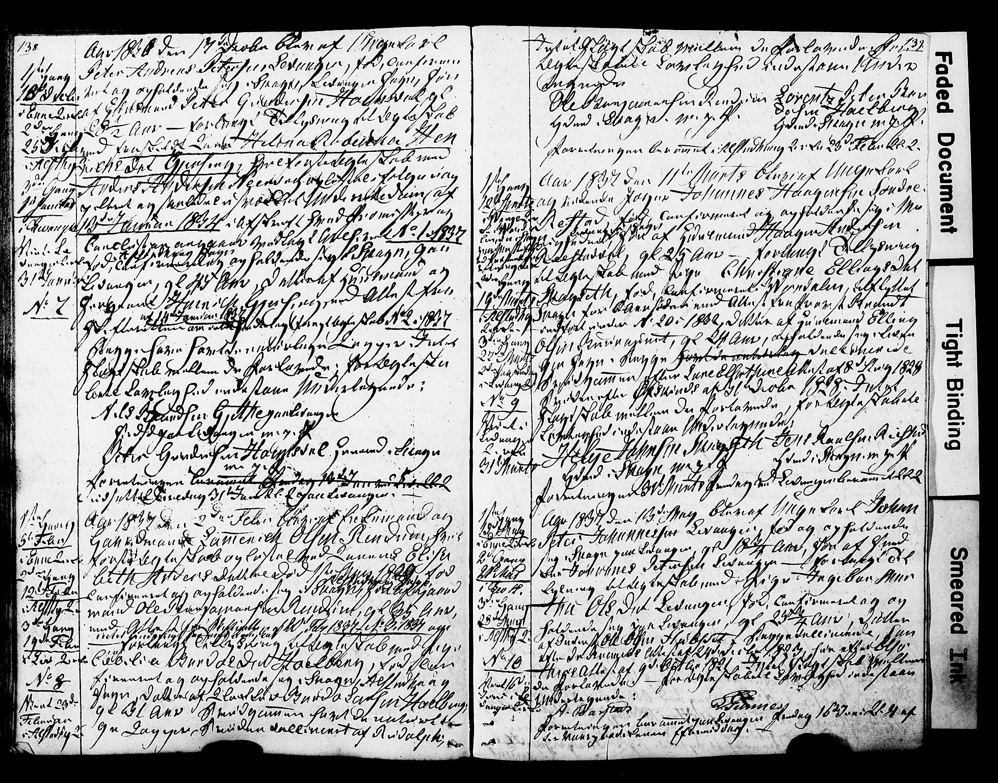 SAT, Ministerialprotokoller, klokkerbøker og fødselsregistre - Nord-Trøndelag, 717/L0160: Forlovererklæringer nr. 717A10, 1828-1850, s. 138-139