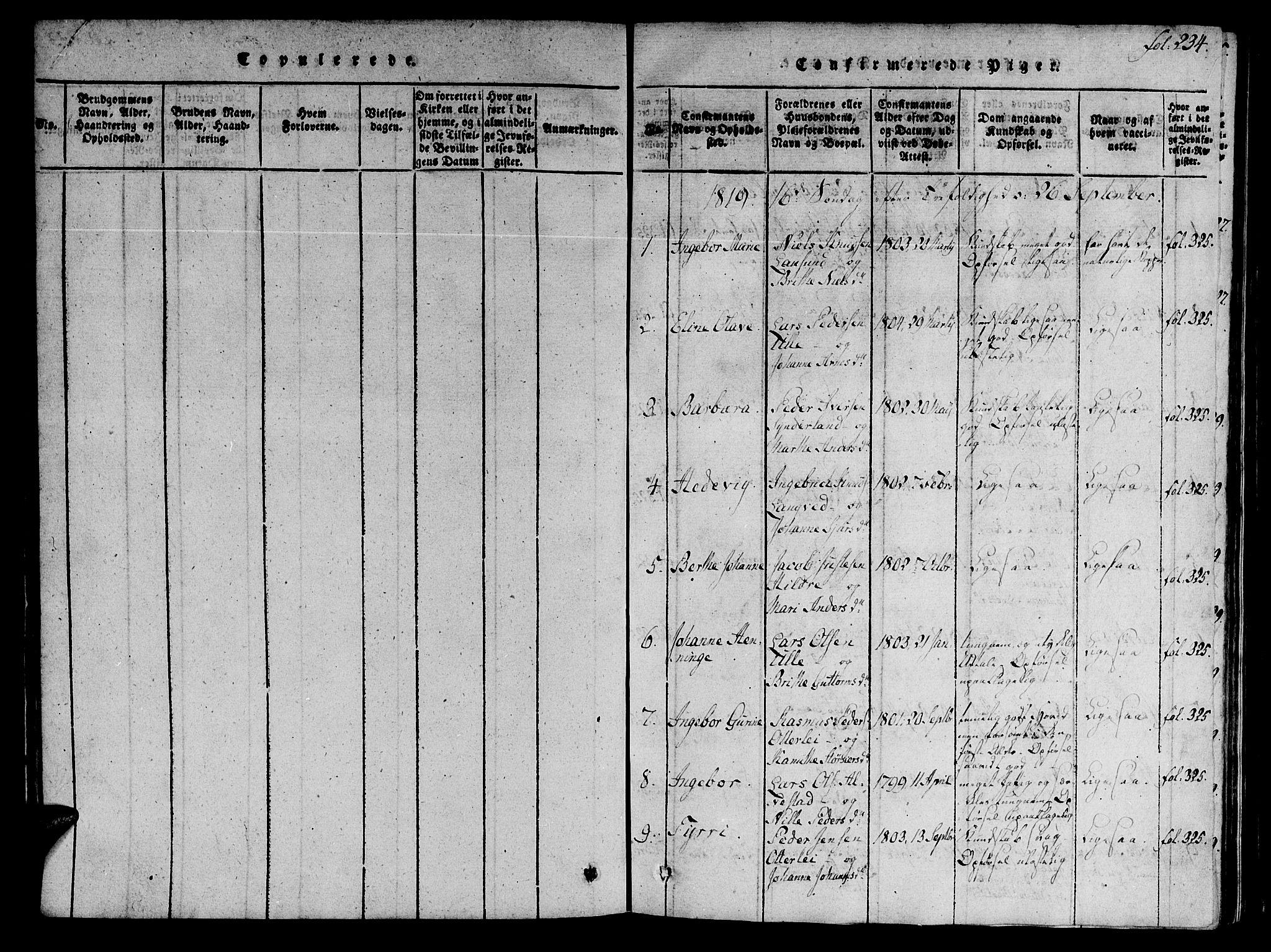 SAT, Ministerialprotokoller, klokkerbøker og fødselsregistre - Møre og Romsdal, 536/L0495: Ministerialbok nr. 536A04, 1818-1847, s. 234