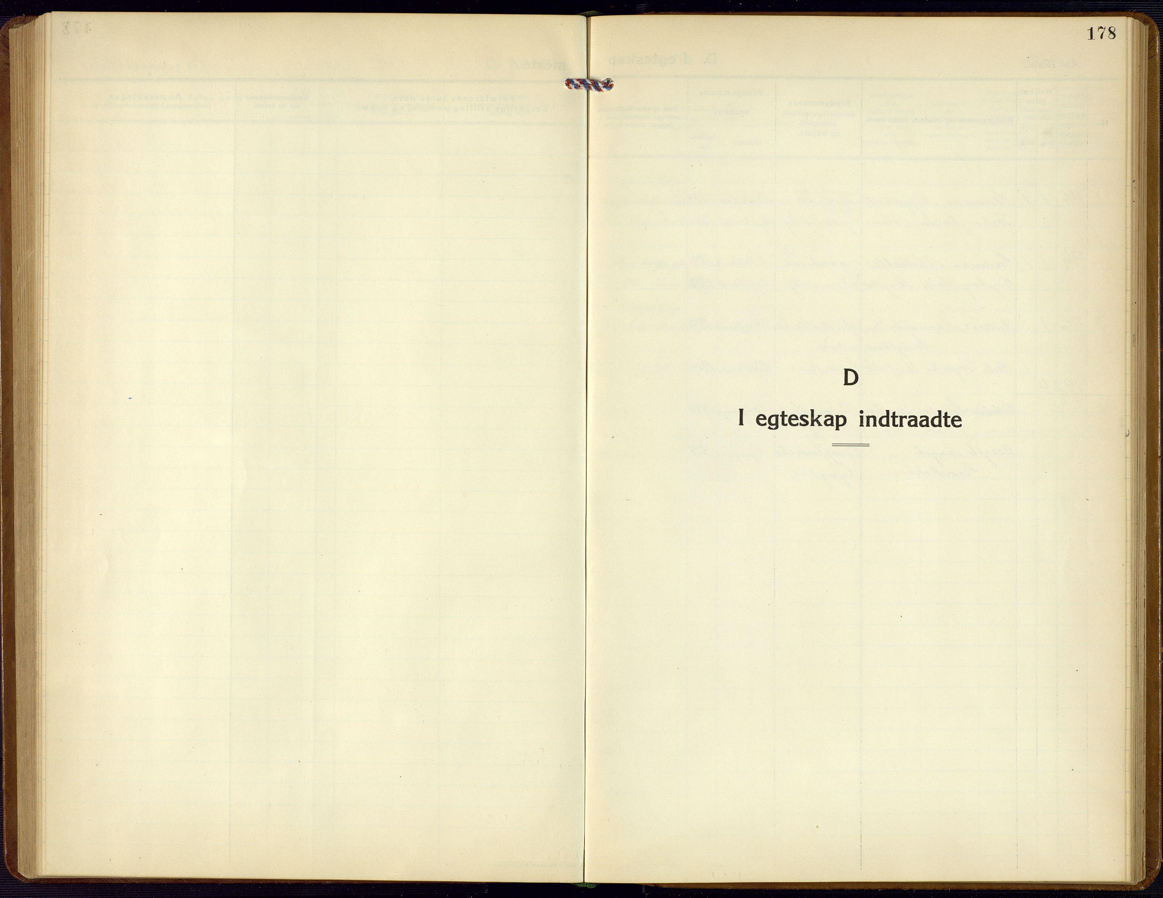 SAK, Bjelland sokneprestkontor, F/Fb/Fba/L0006: Klokkerbok nr. B 6, 1923-1956, s. 178