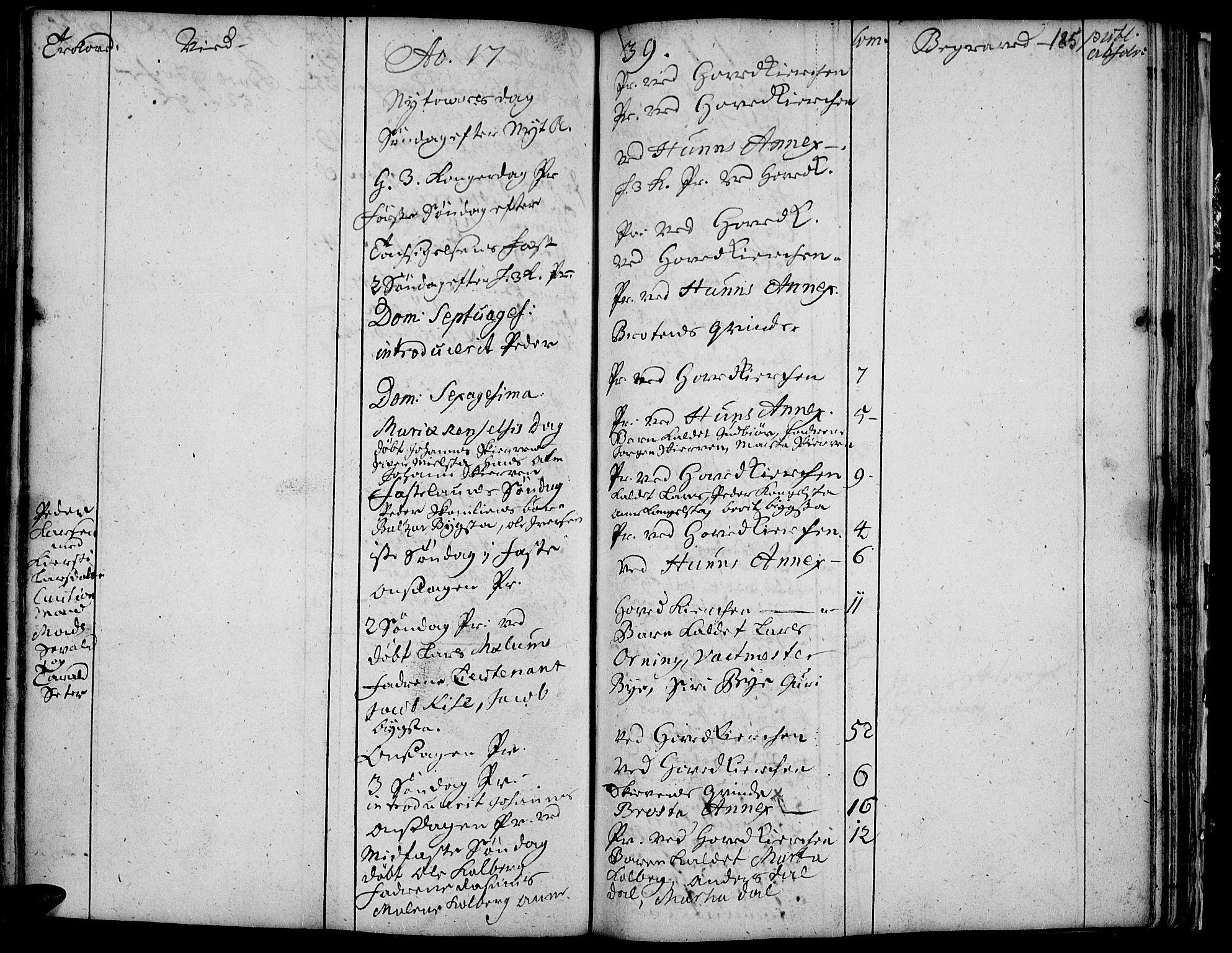 SAH, Vardal prestekontor, H/Ha/Haa/L0001: Ministerialbok nr. 1, 1706-1748, s. 185