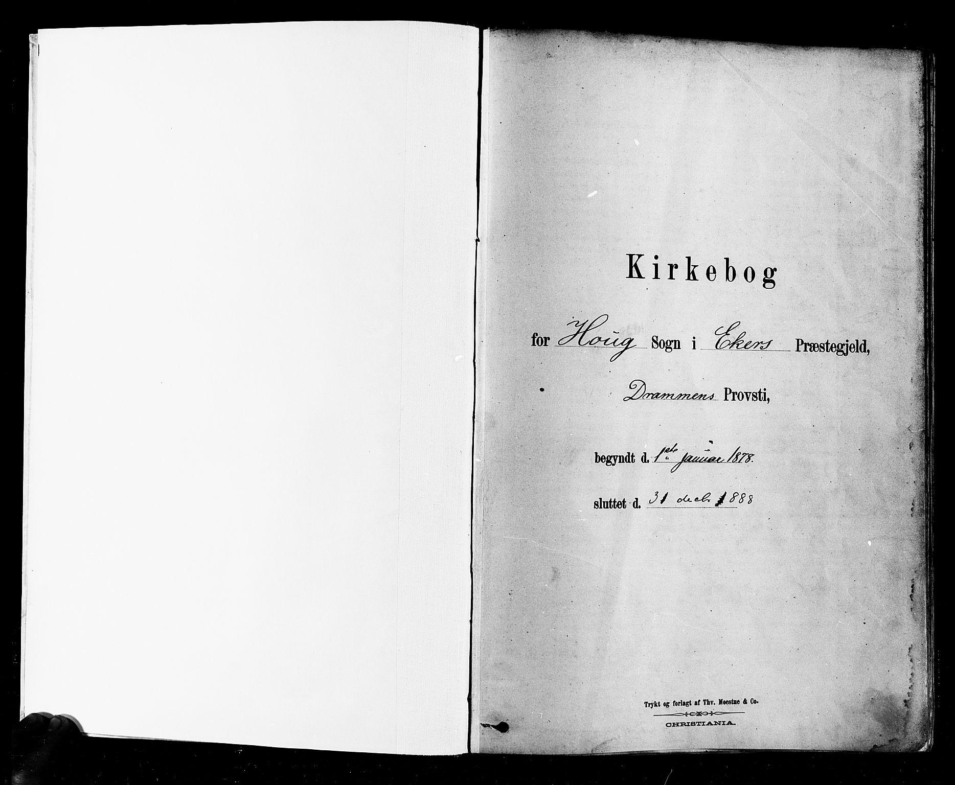SAKO, Eiker kirkebøker, F/Fb/L0001: Ministerialbok nr. II 1, 1878-1888