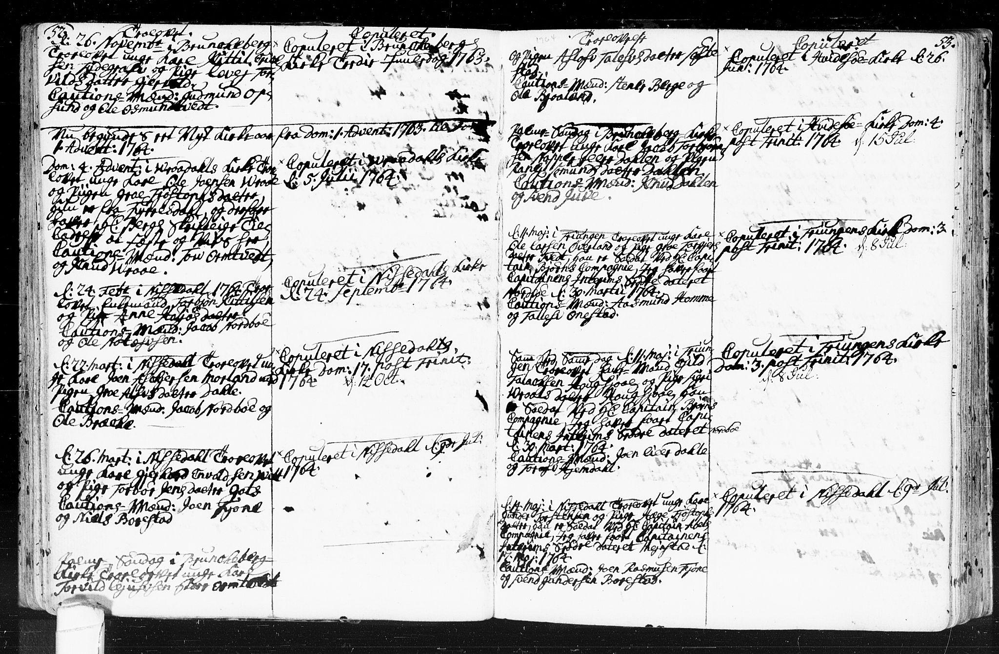 SAKO, Kviteseid kirkebøker, F/Fa/L0001: Ministerialbok nr. I 1, 1754-1773, s. 52-53