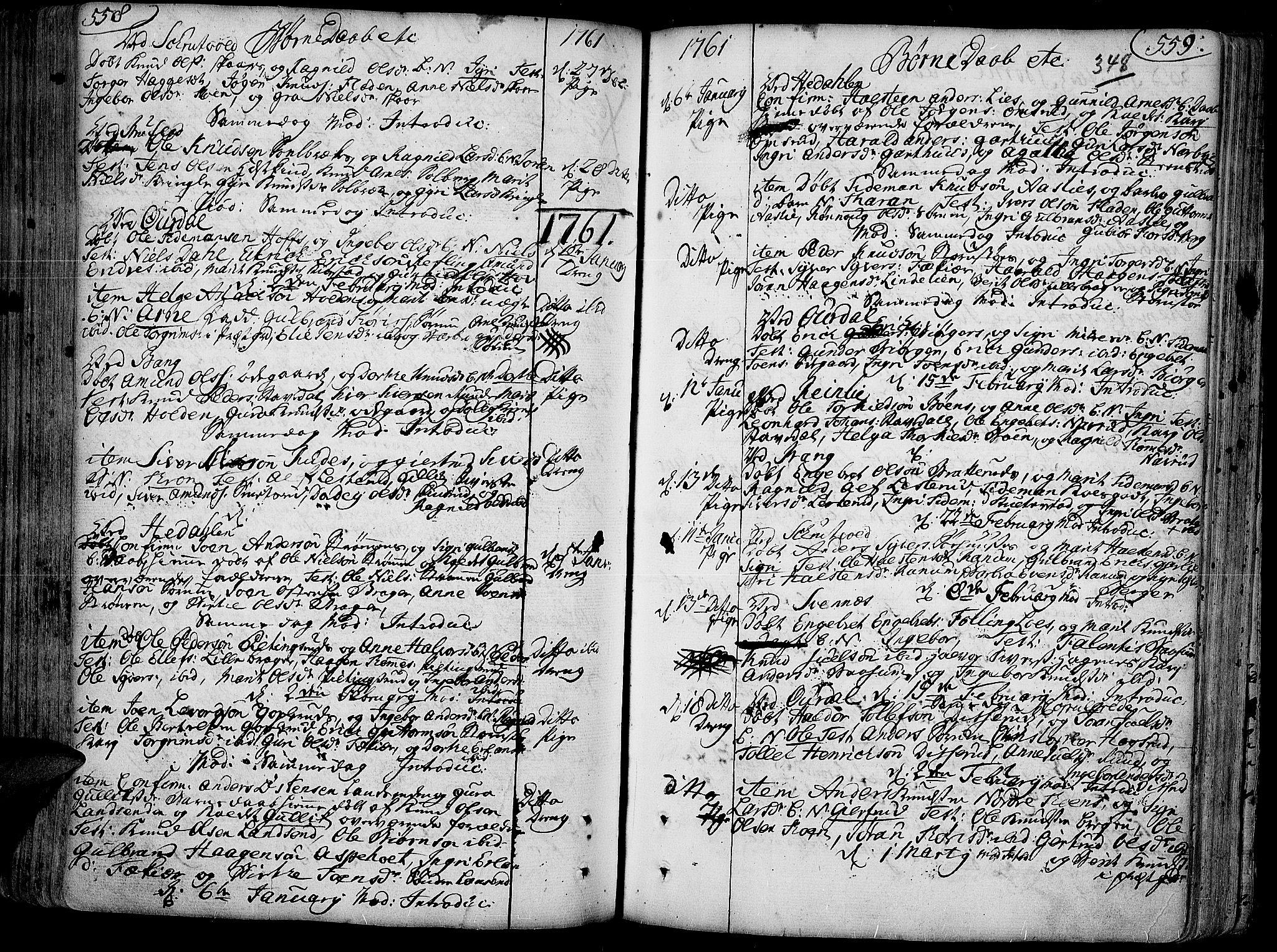 SAH, Aurdal prestekontor, Ministerialbok nr. 4, 1730-1762, s. 558-559